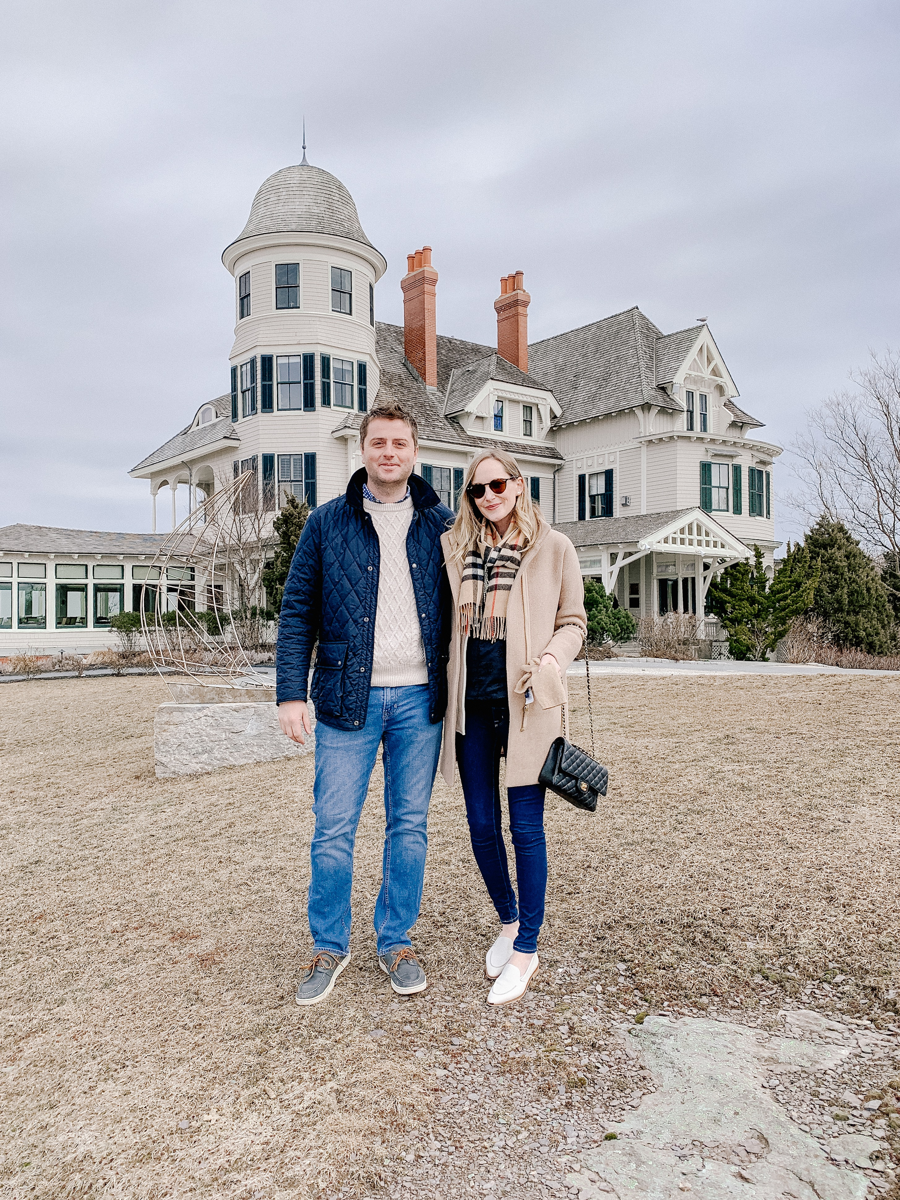 Mitch and Kelly - Newport, Rhode Island - Lunch at Castle Hill Inn