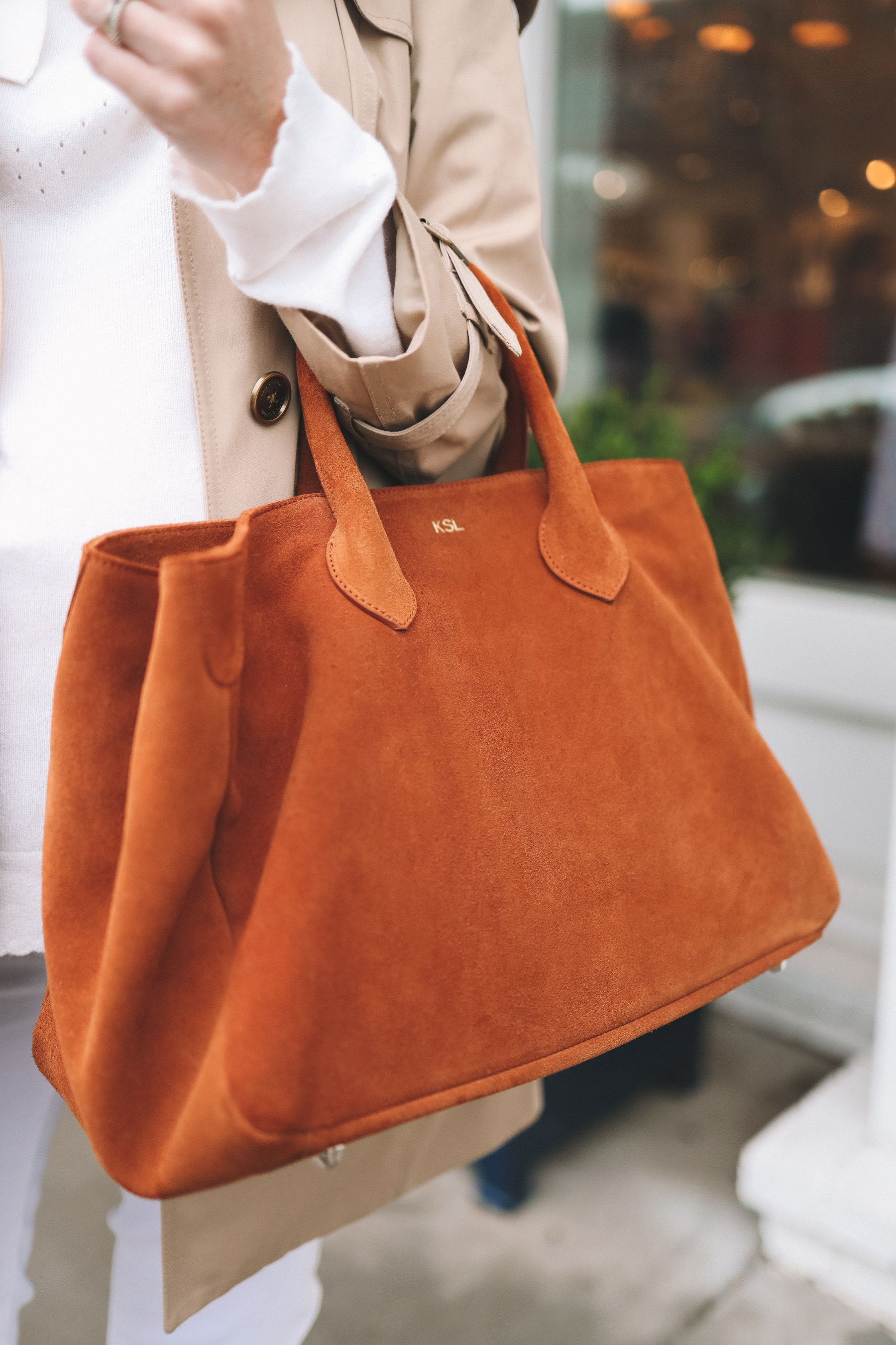 Mark & Graham Suede Elisabetta Tote