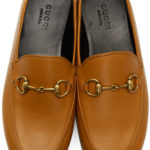 brown Gucci Brixton Loafers