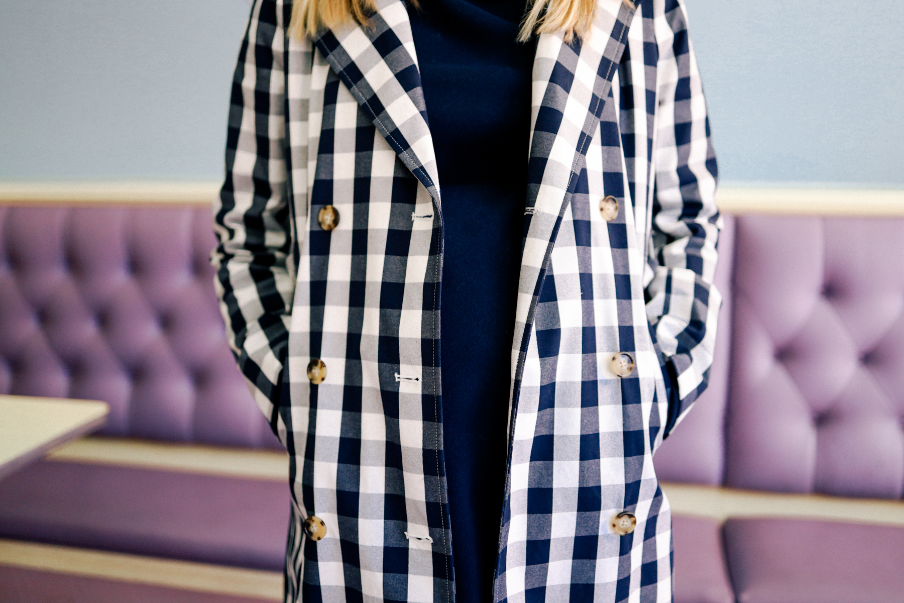 J.Crew Gingham Trench Coat