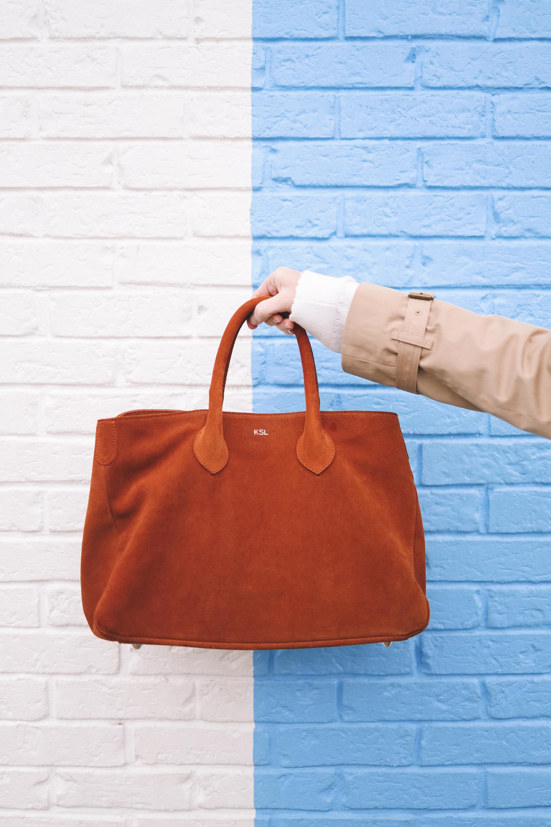 Elisabetta Suede Handbag
