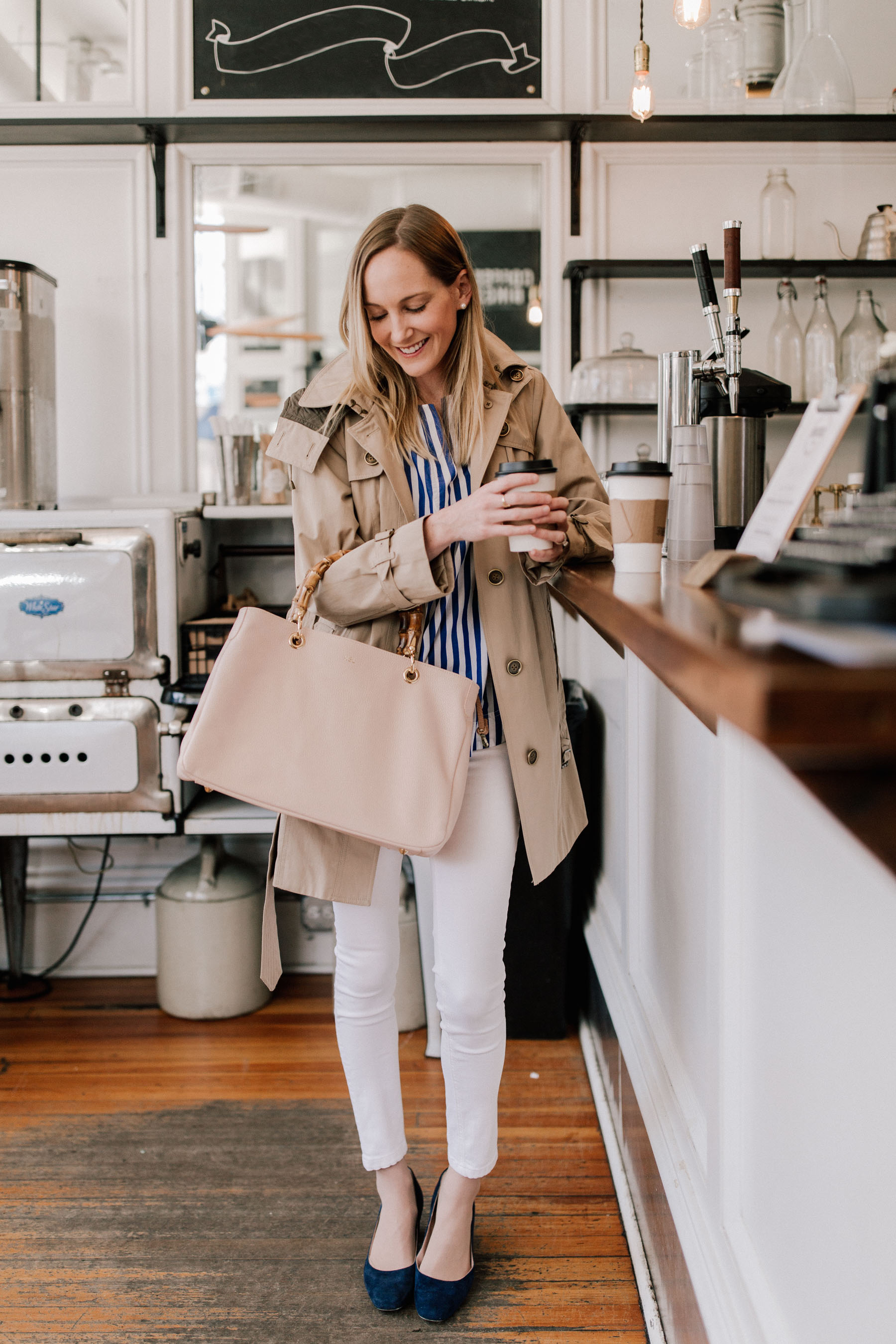 preppy spring outfits by kelly larkin