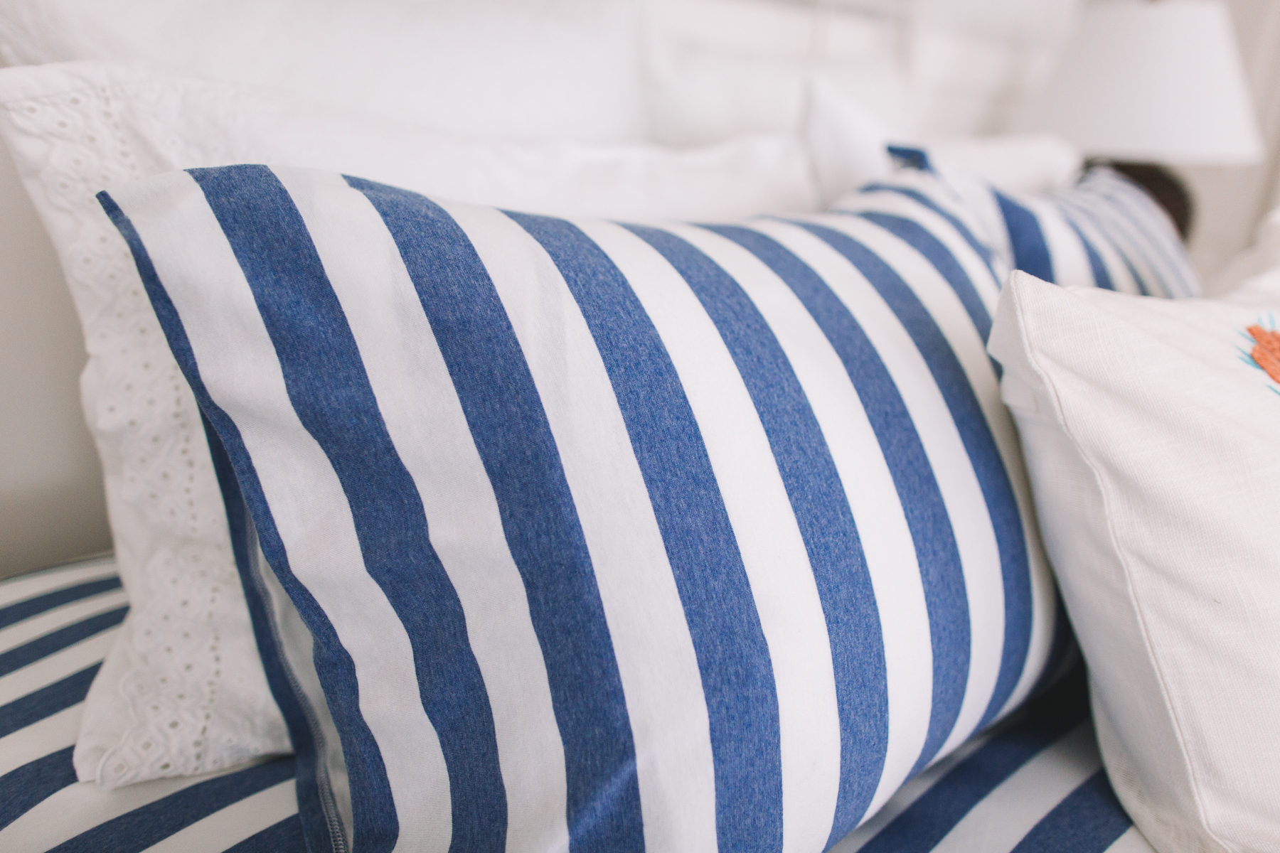 Preppy Bedding - Pillow Cases and Euro Shams; Best Down Pillows; Firmest Pillows;