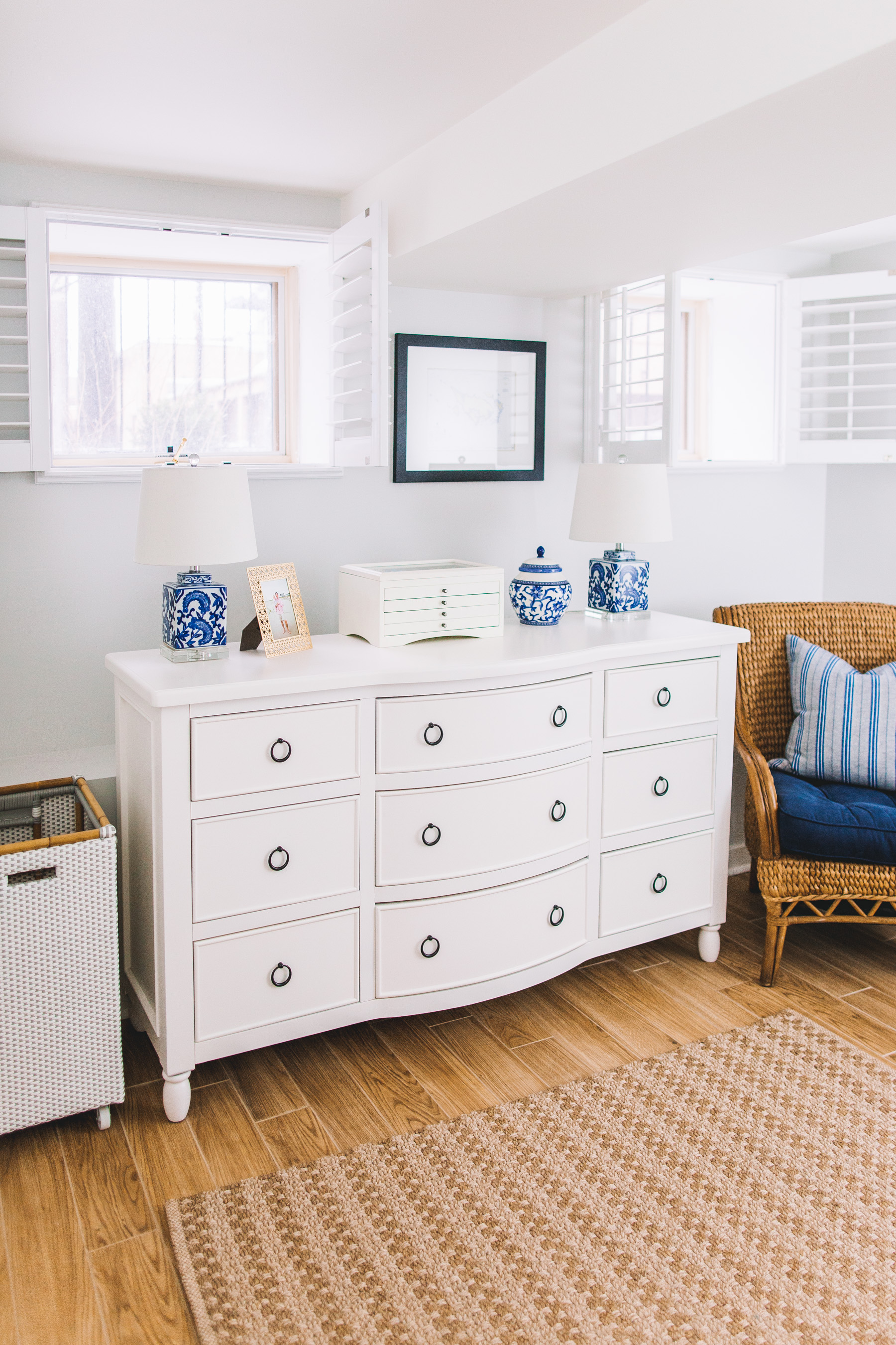 Larger Lamps for Nightstands and white dresser