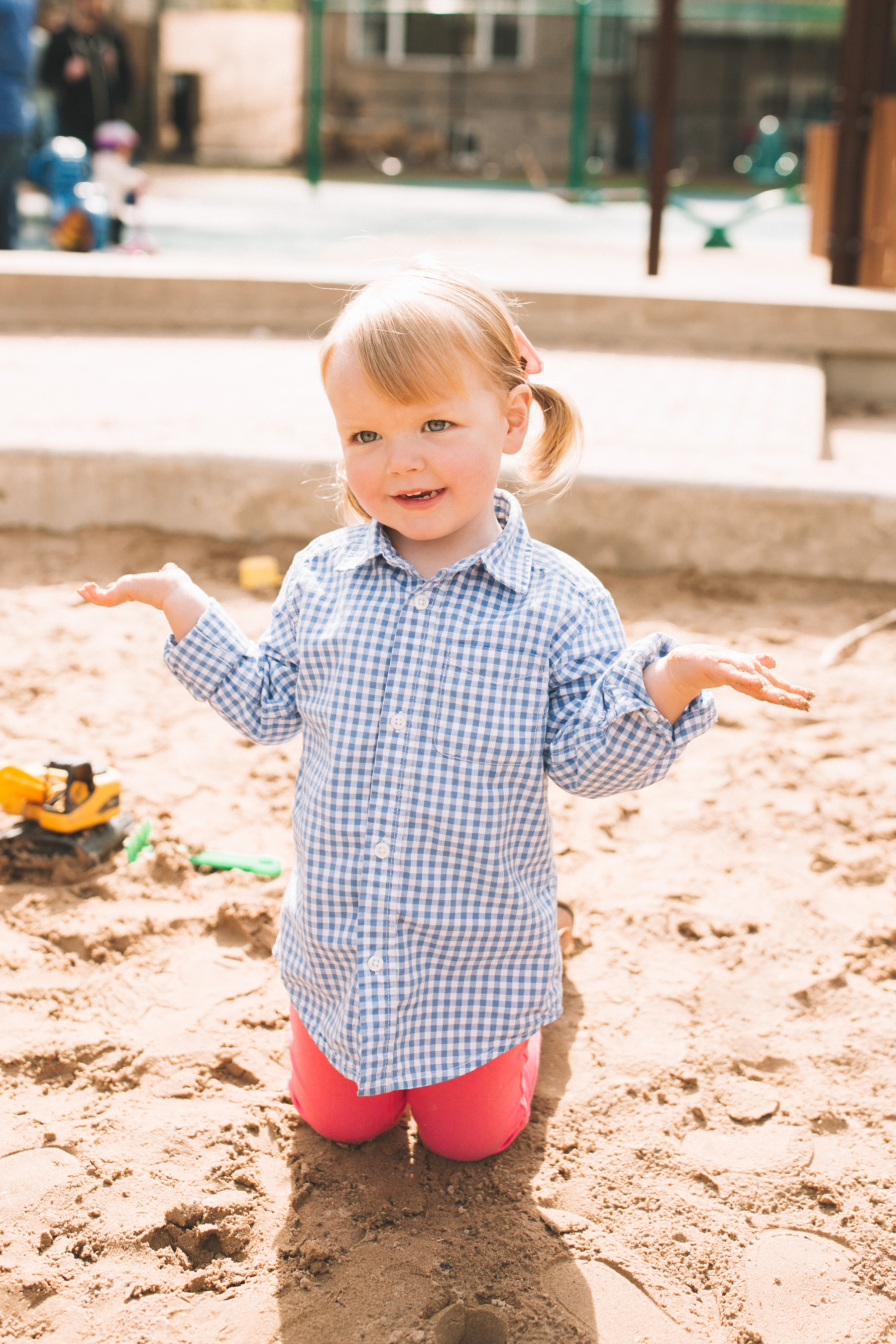 Emma Larkin is wearing some preppy toddler play clothes  | Kelly in the City