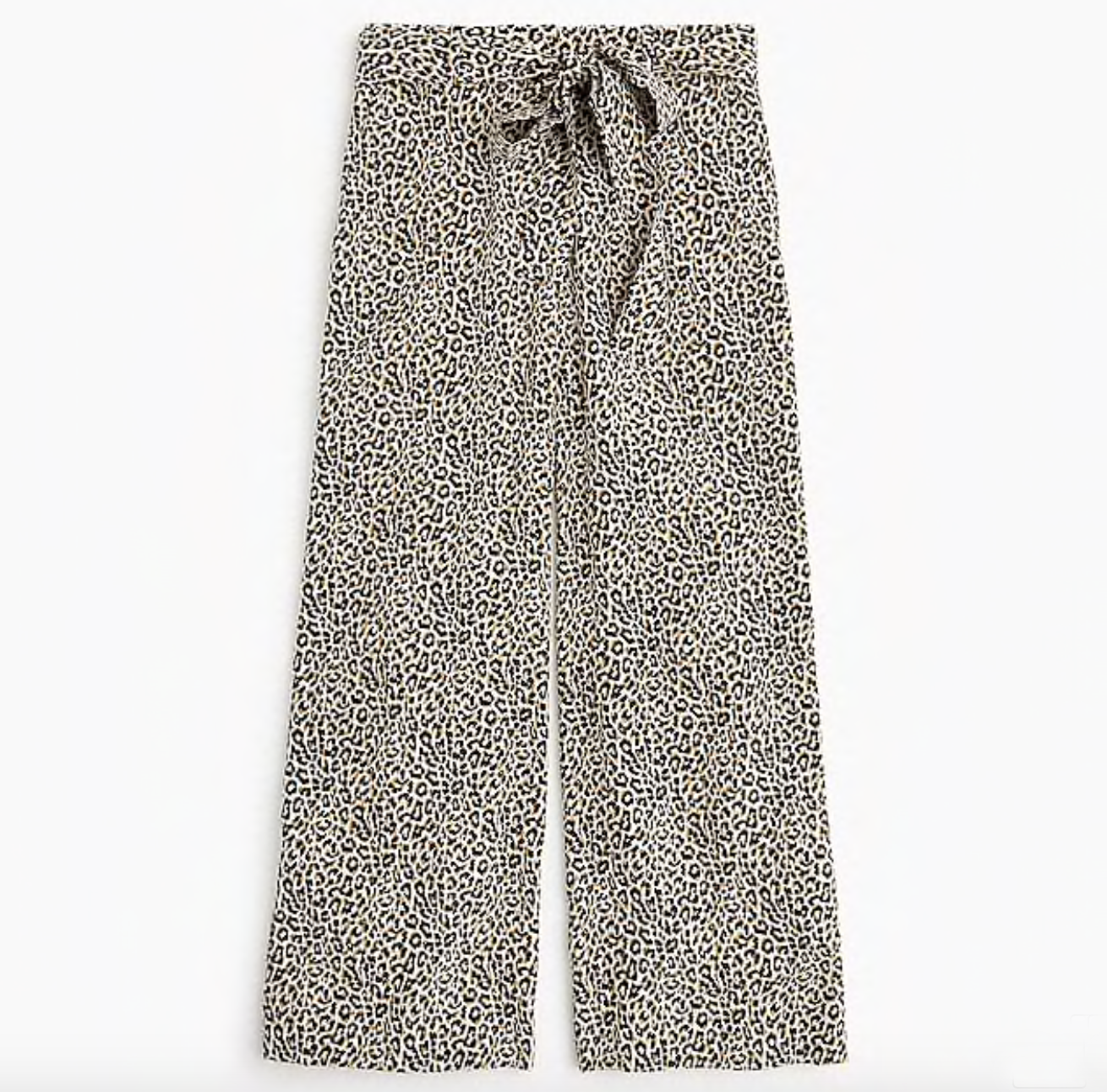 Wide-Leg Silk Leopard Pants