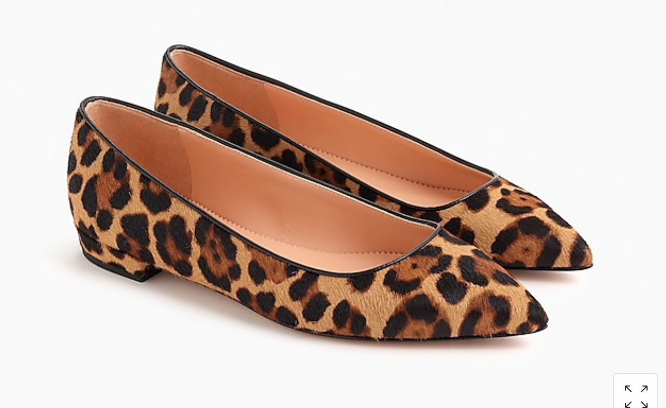Leopard Flats: Great deal on timeless leopard flats. Love the point!