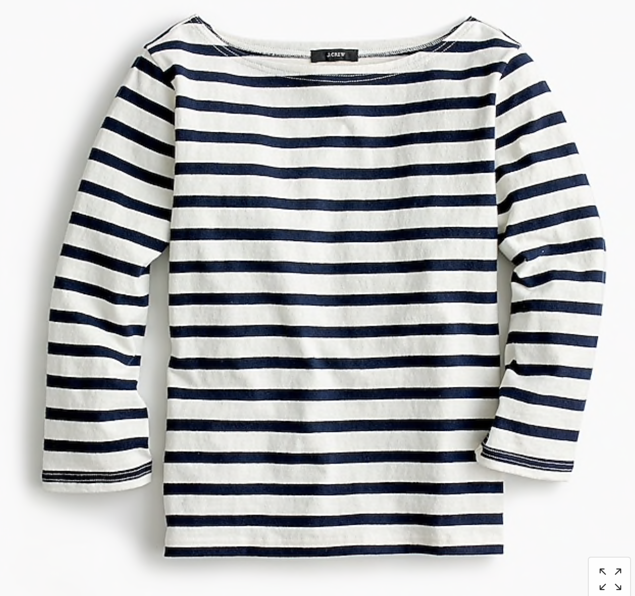 Navy Striped Boatneck Tee