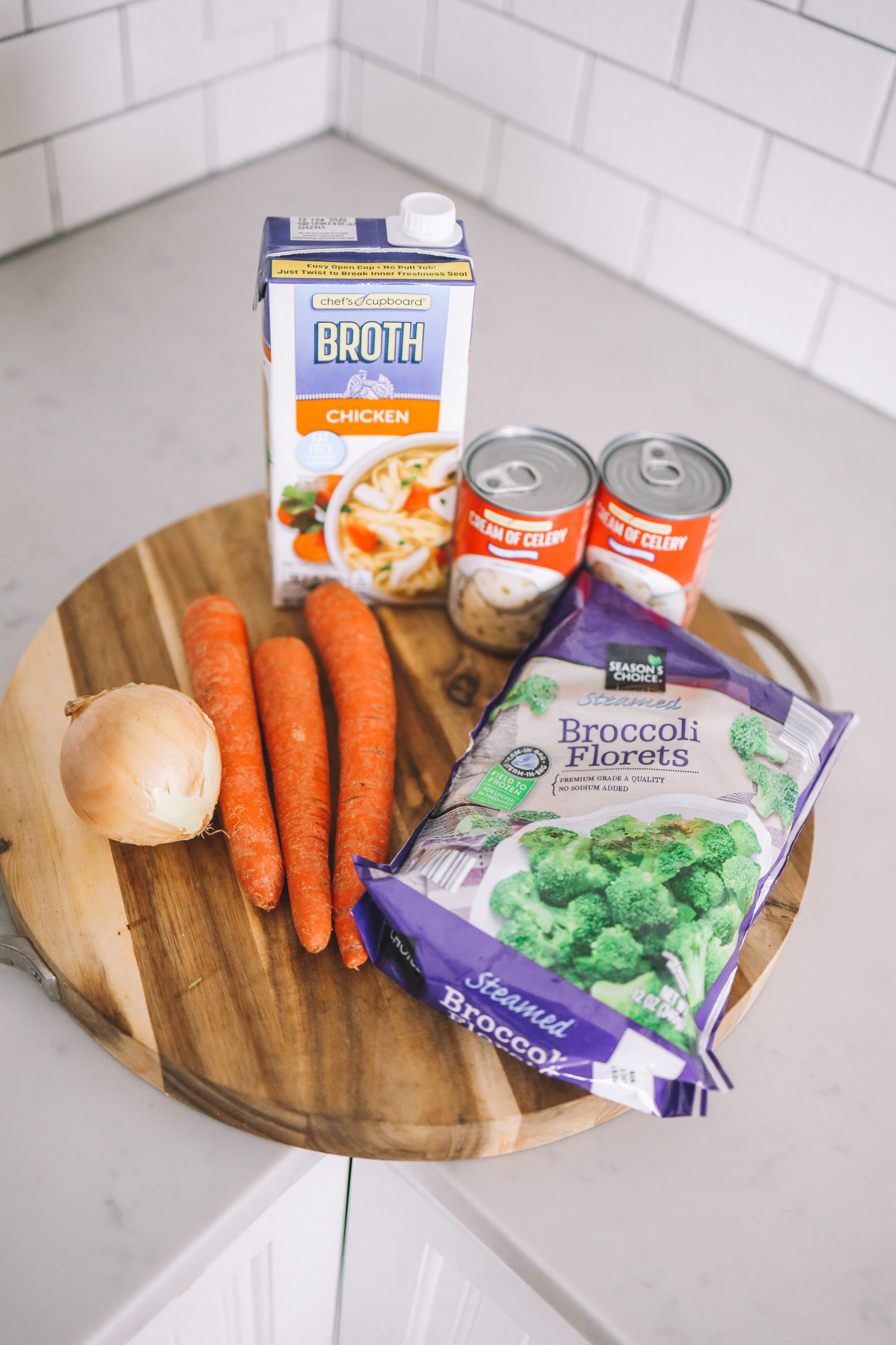 Broccoli Cheese Soup Ingredients - Kelly in the City