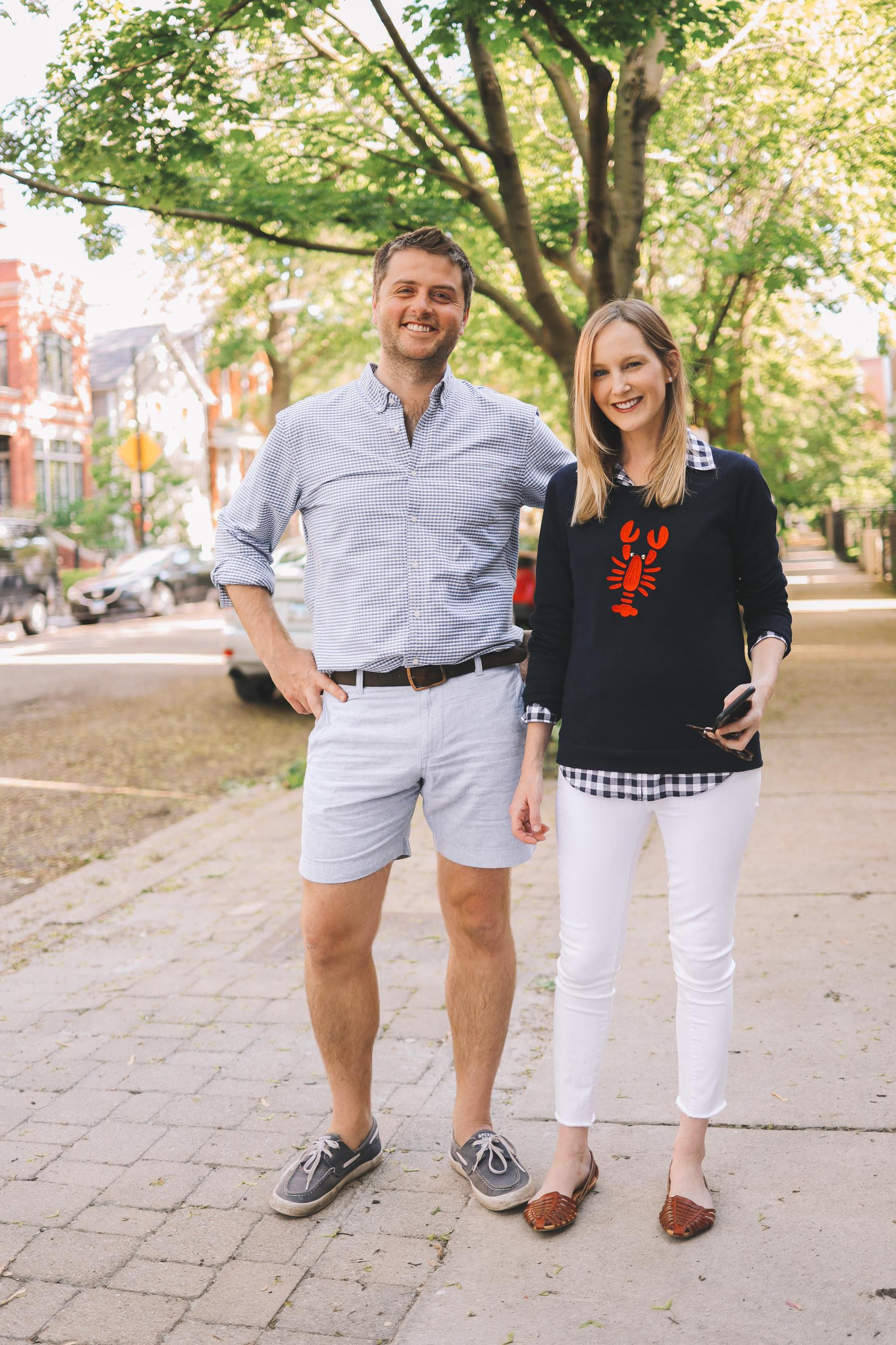 Kelly Larkin and Mitch Larkin in Chicago