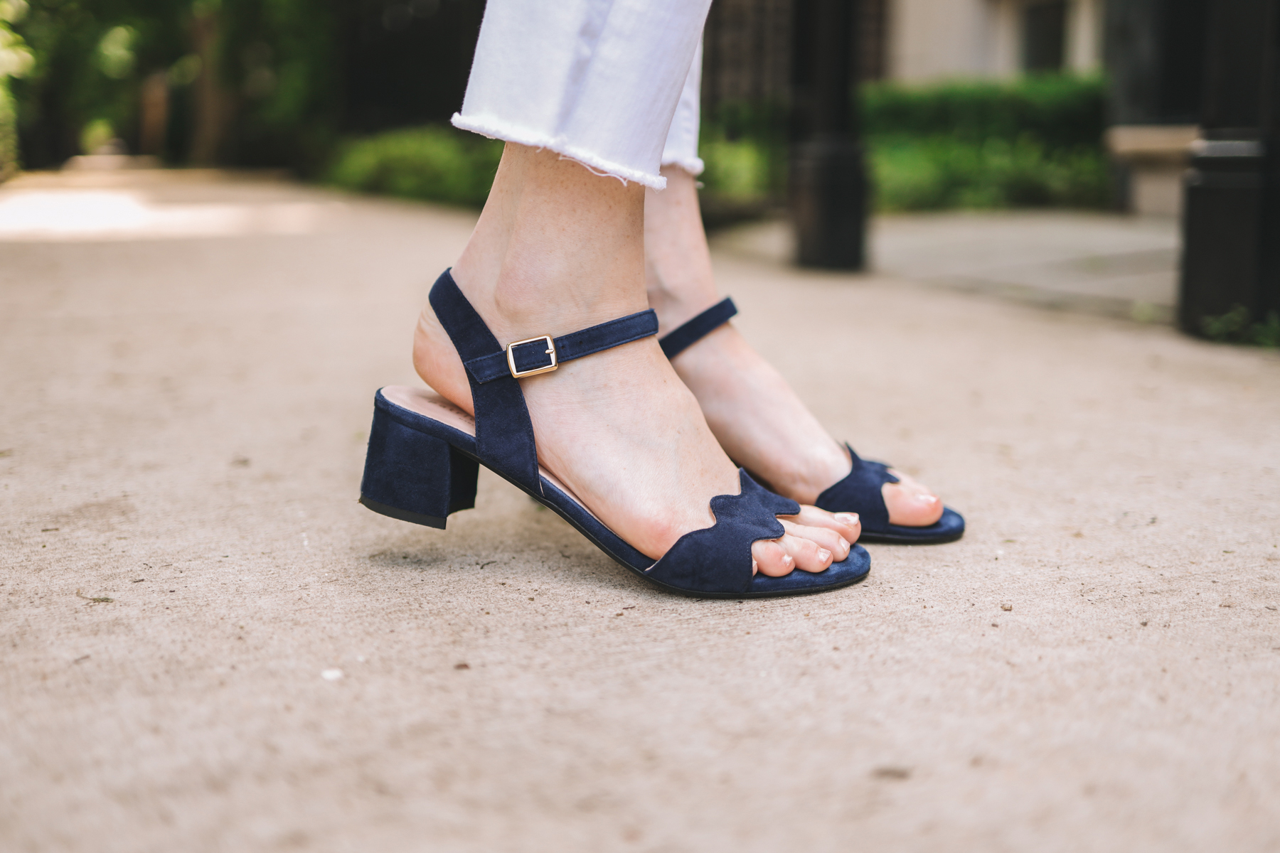Patricia Green Scalloped Sandals - Kelly in the City