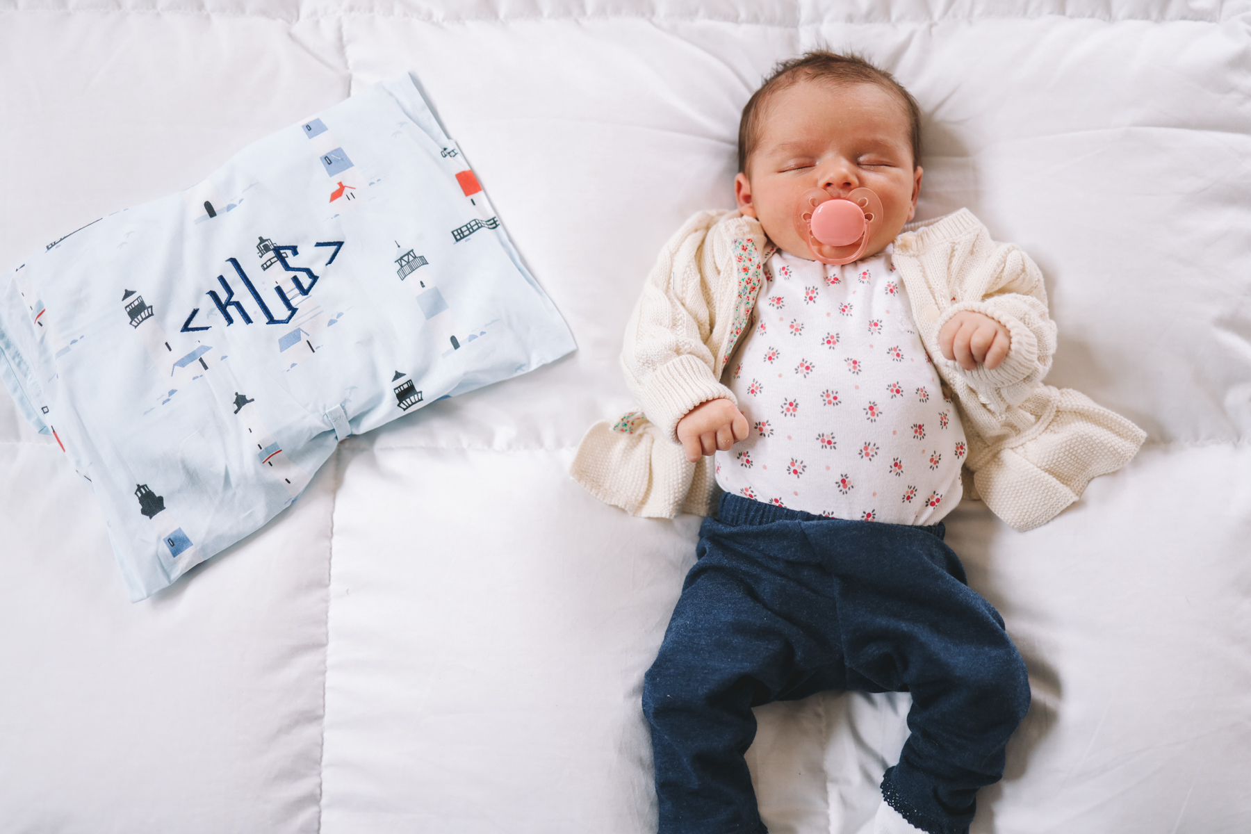 baby lucy & Nantucket pajamas