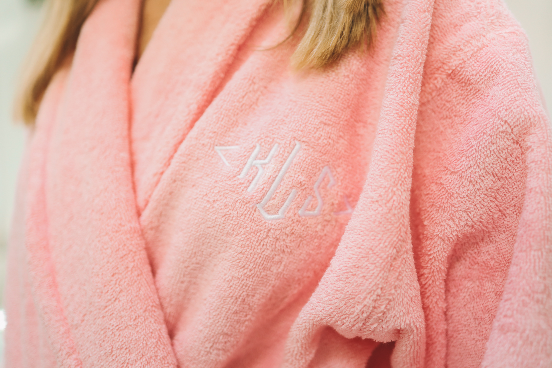 Cotton robe personalized
