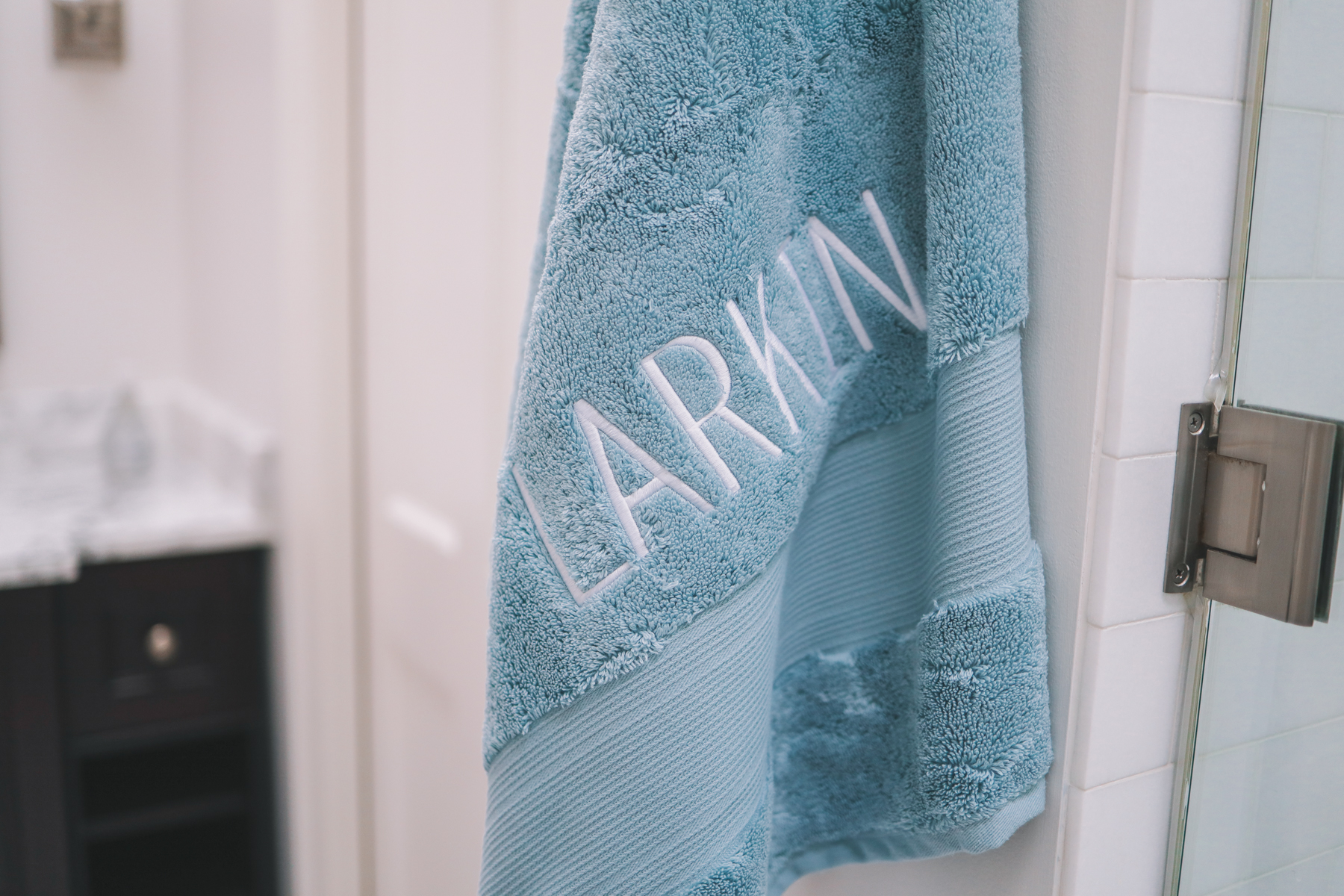 Monogrammed Egyptian cotton towels