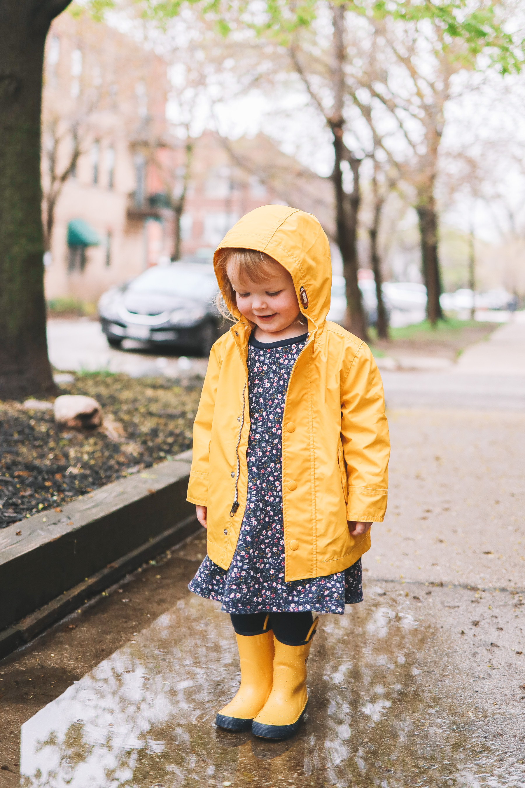 Yellow Rainy Day Outfit
