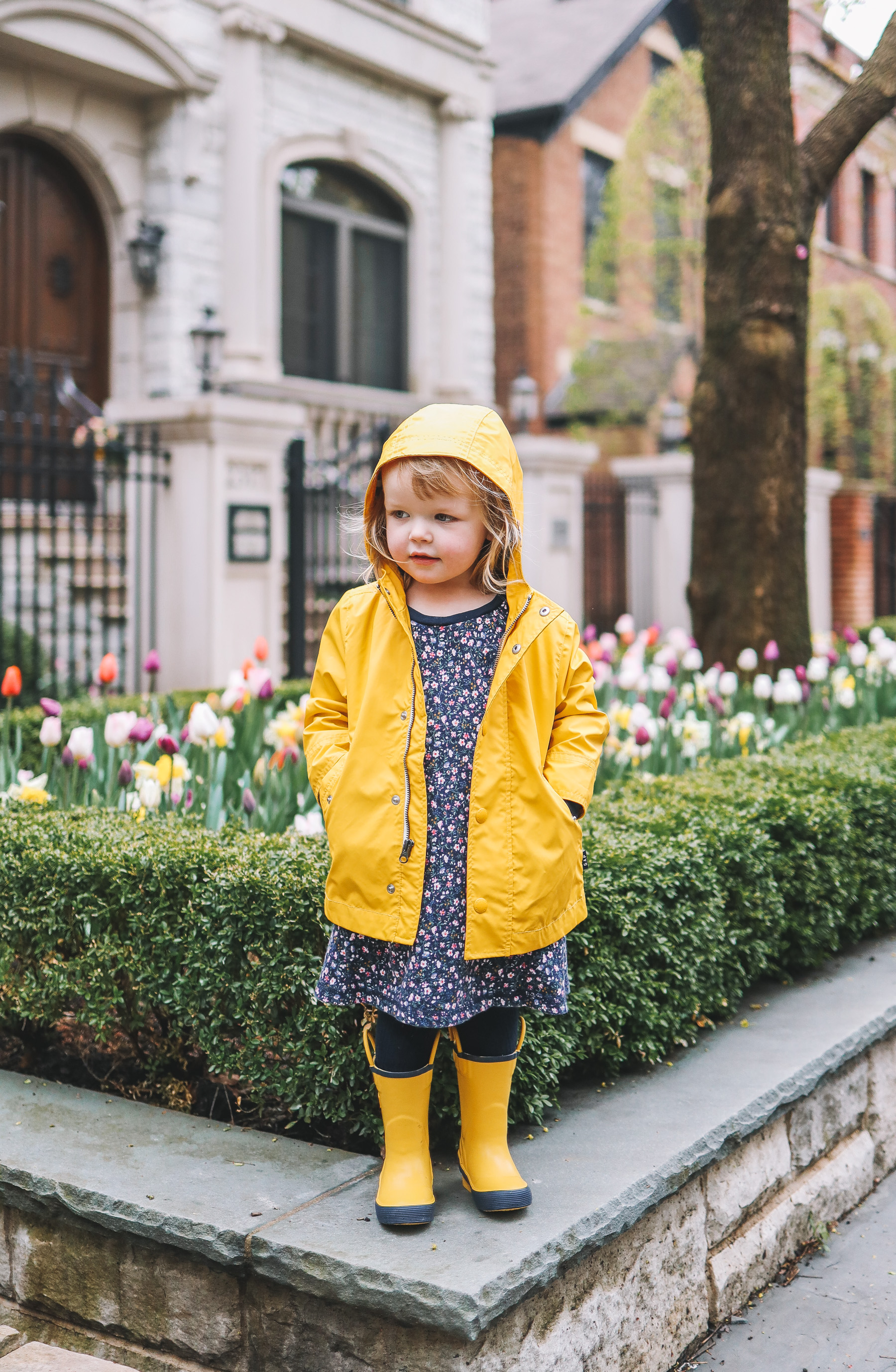 April Showers & Preppy Rainy Day Outfit