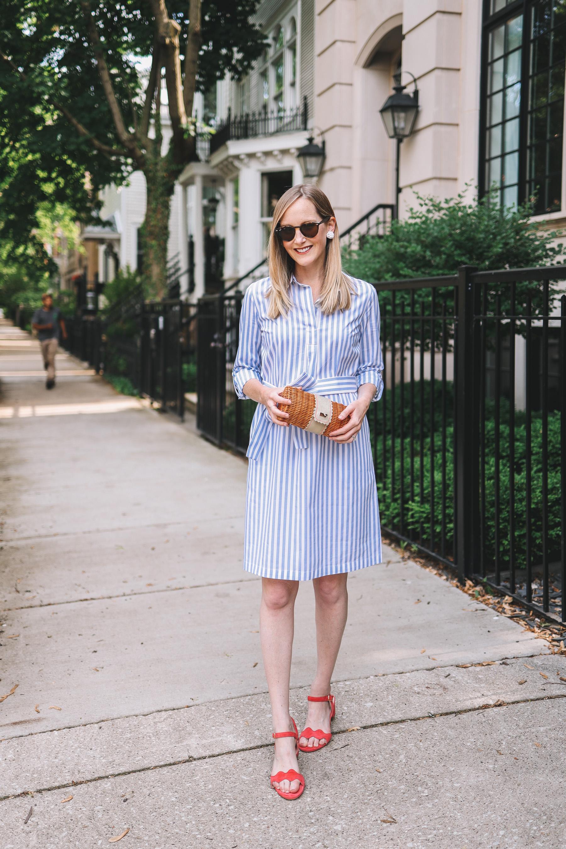 Striped Shirtdress featured by Kelly Larkin