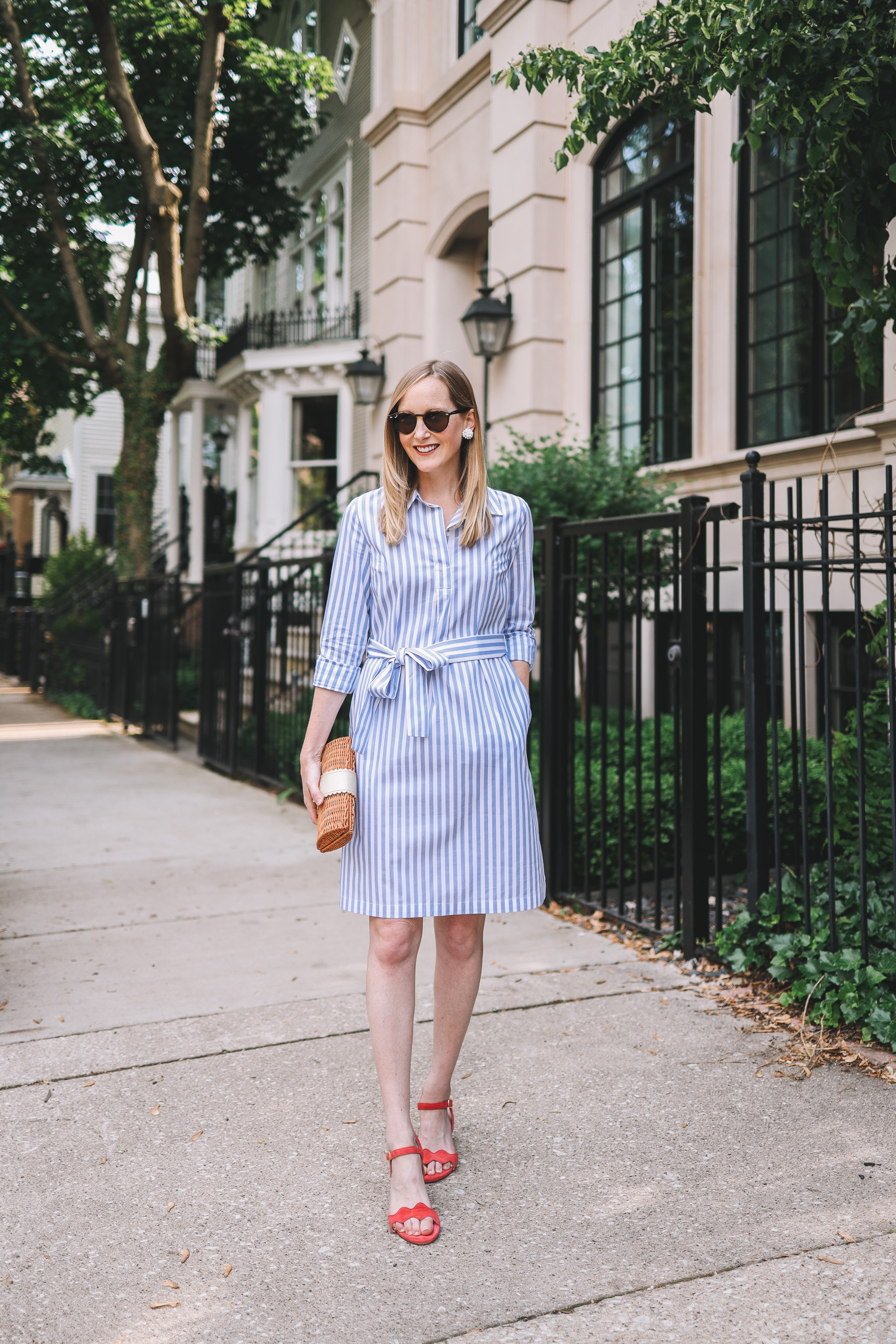 Striped Shirtdress featured
