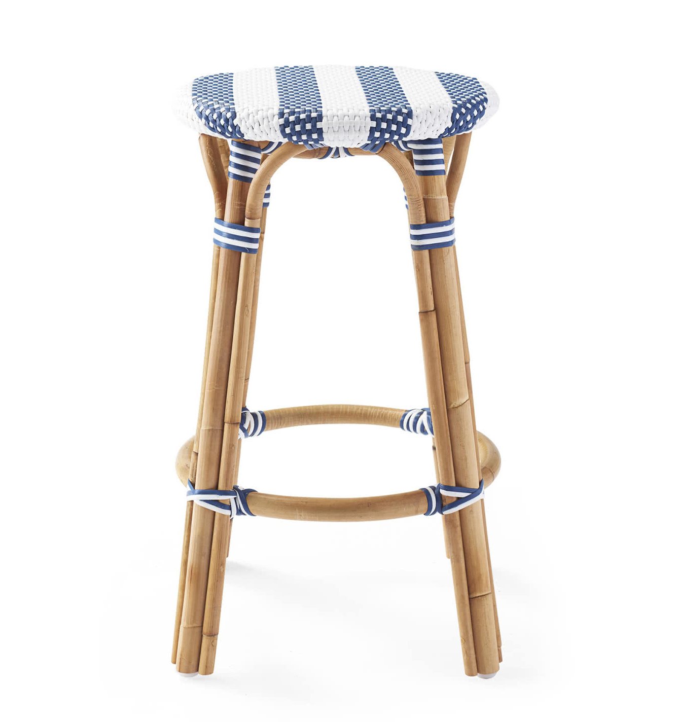 Striped Riviera Stool