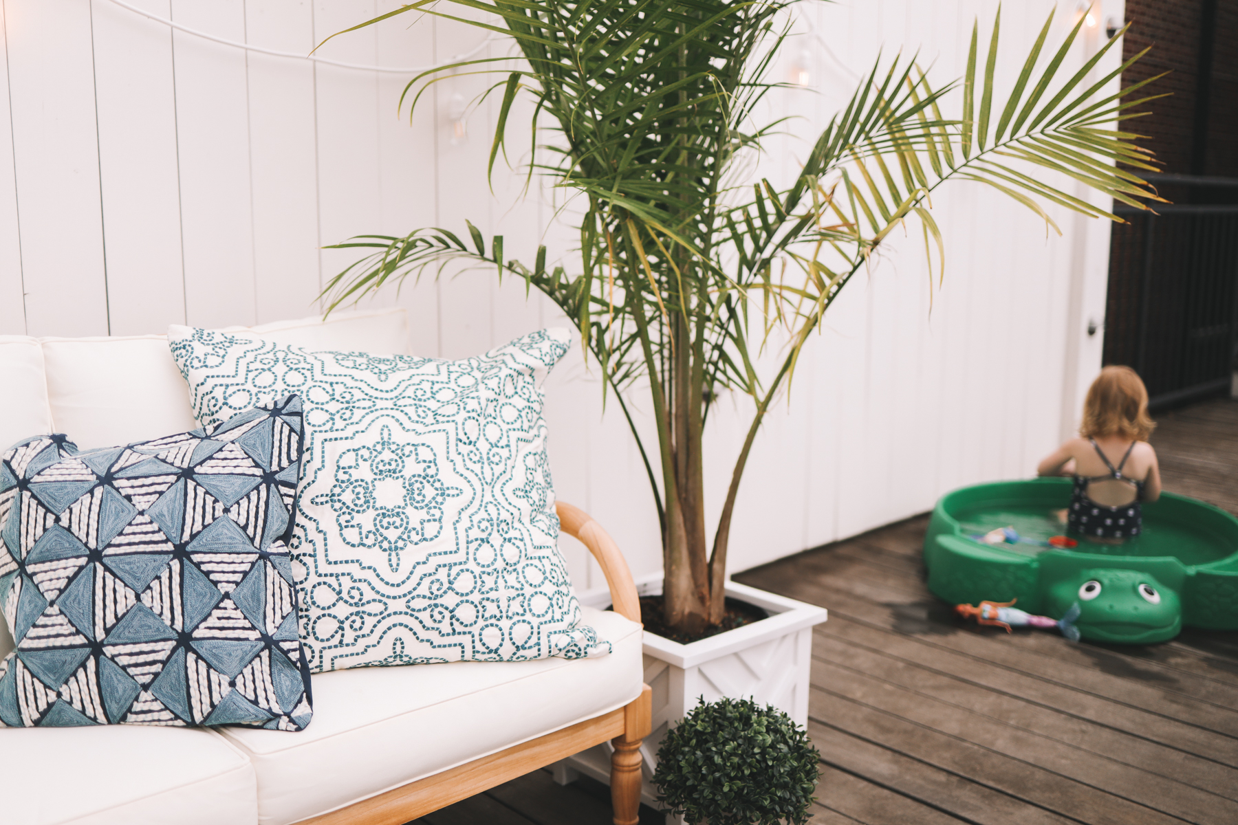 Preppy outdoor pillows