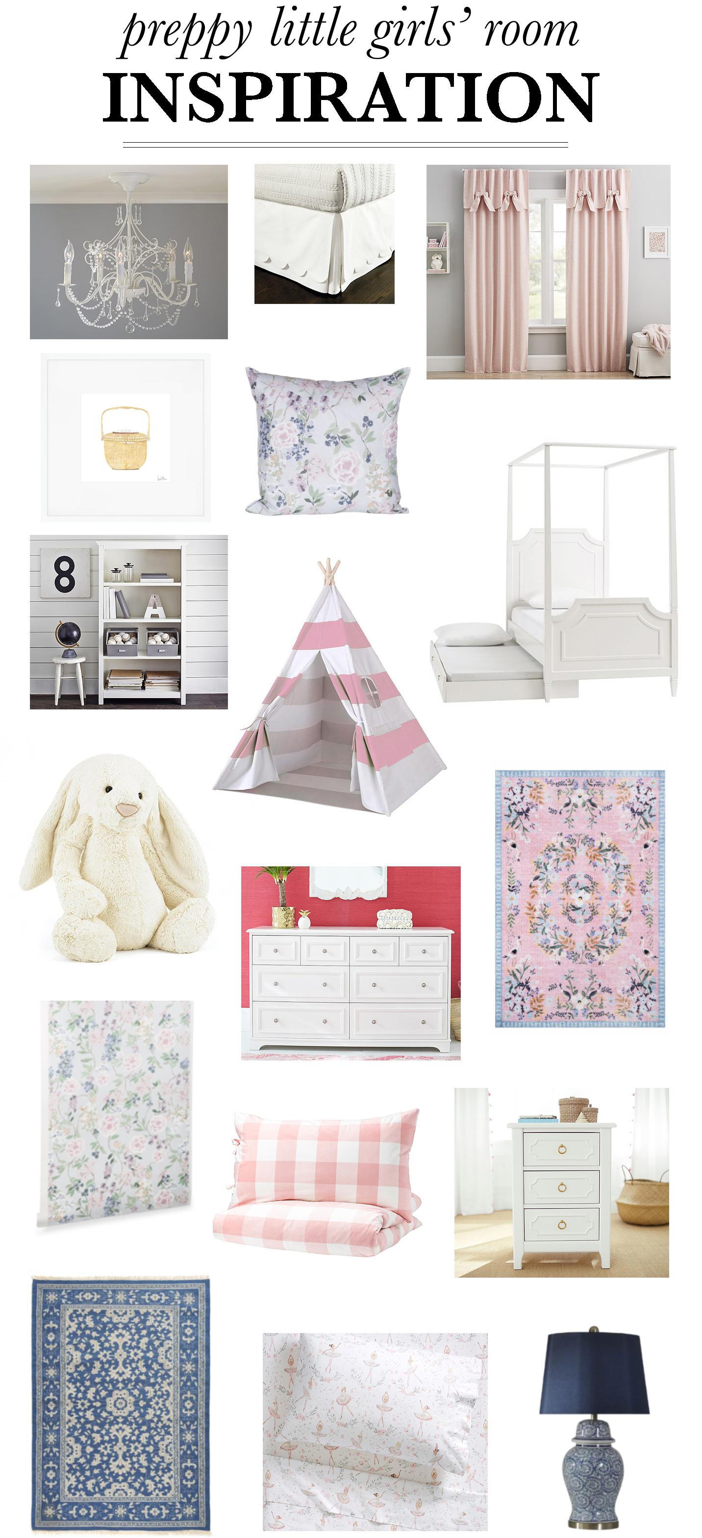 Preppy Little Girls' Room Ideas