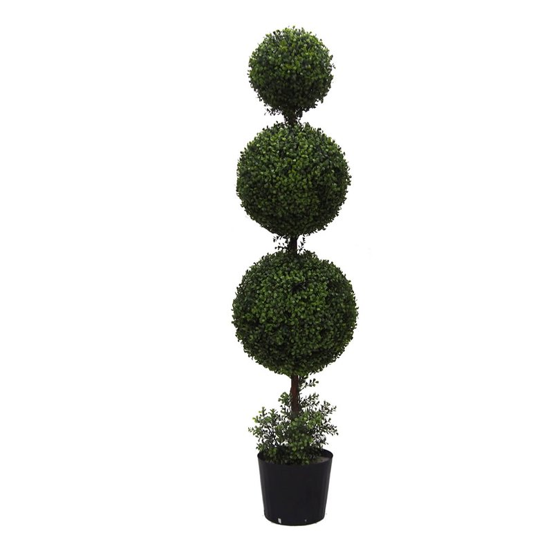 Triple Ball Boxwood Topiaries