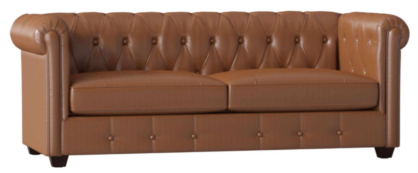Birch Lane Hawthorn Leather Chesterfield Sofa