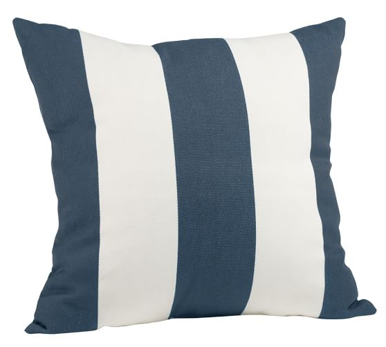 Indoor/Outdoor Striped Pillow