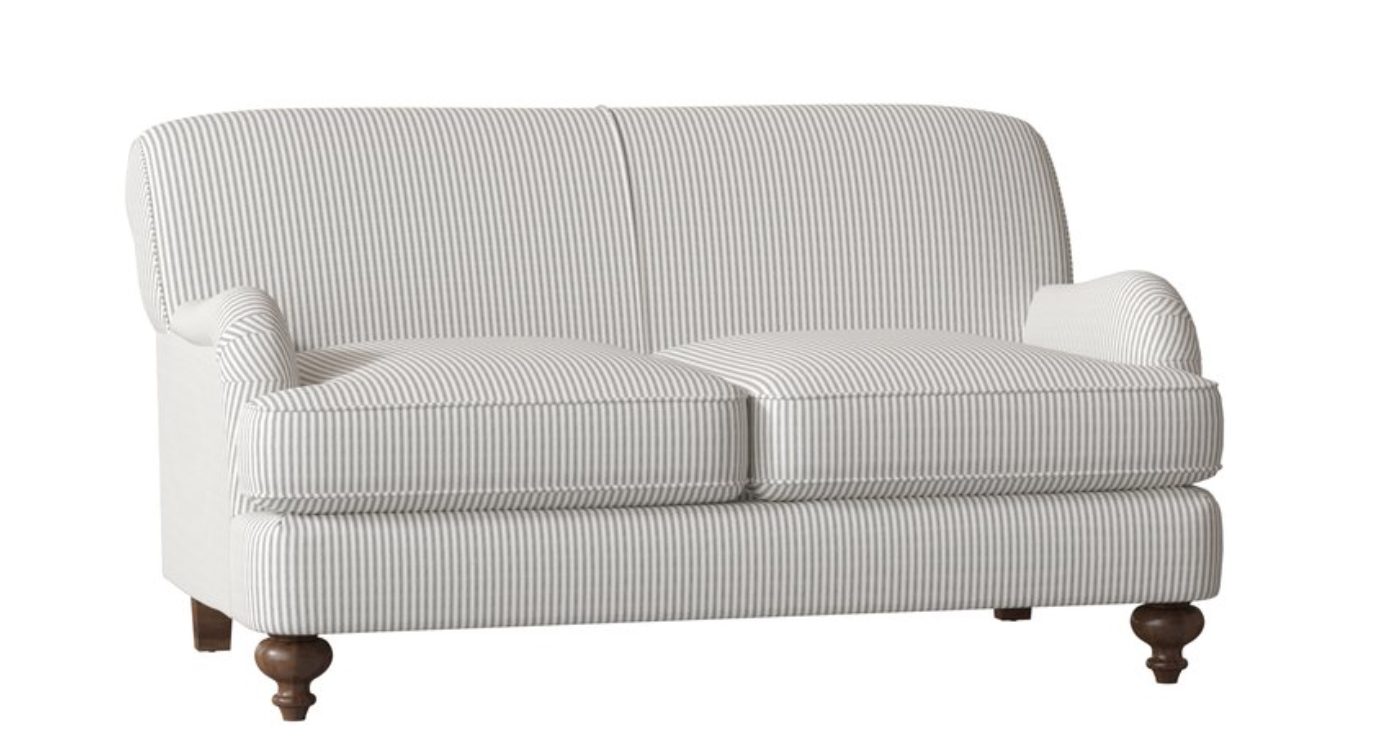 Home Purchases - Striped couch