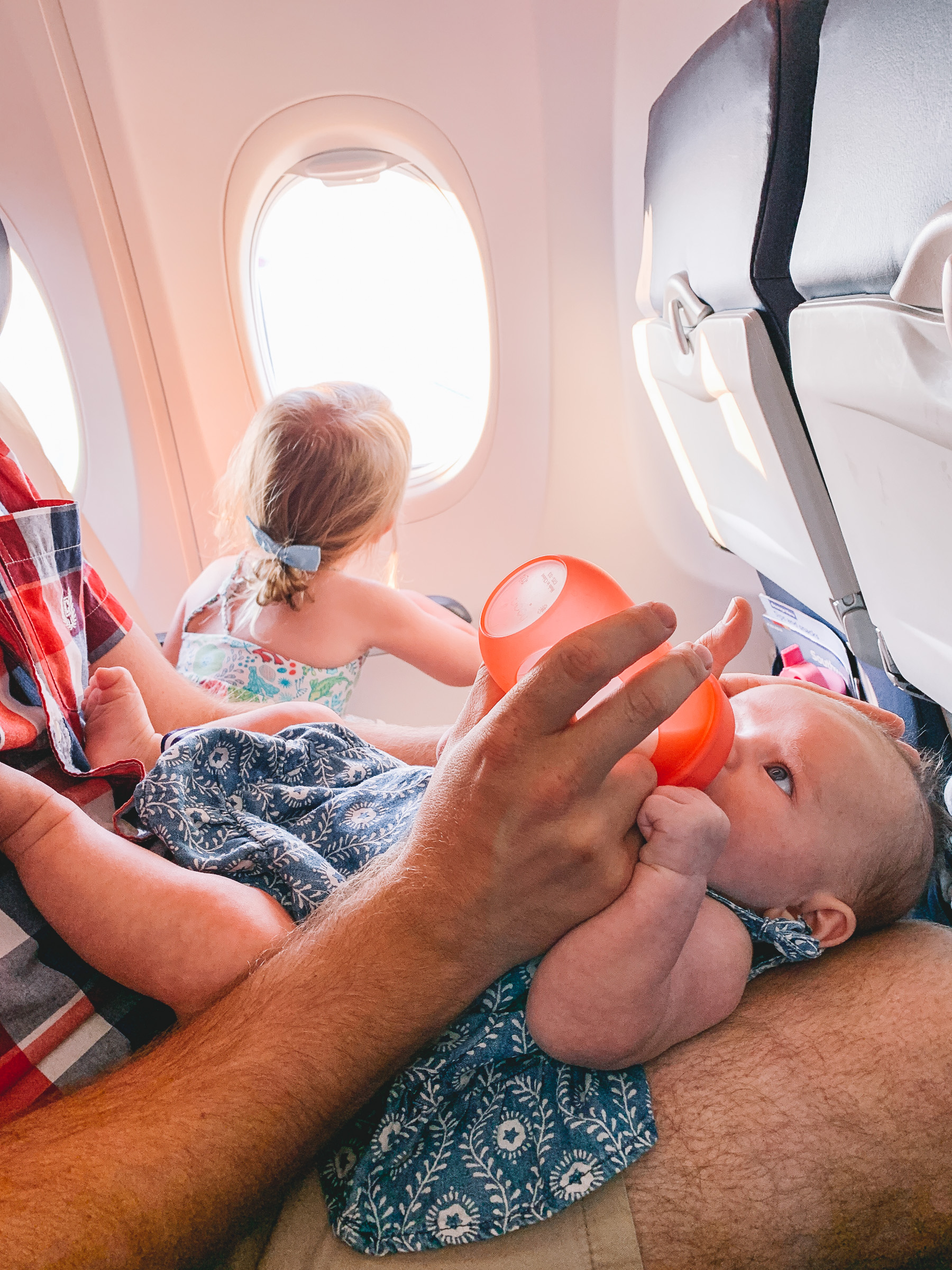 baby in the airplane