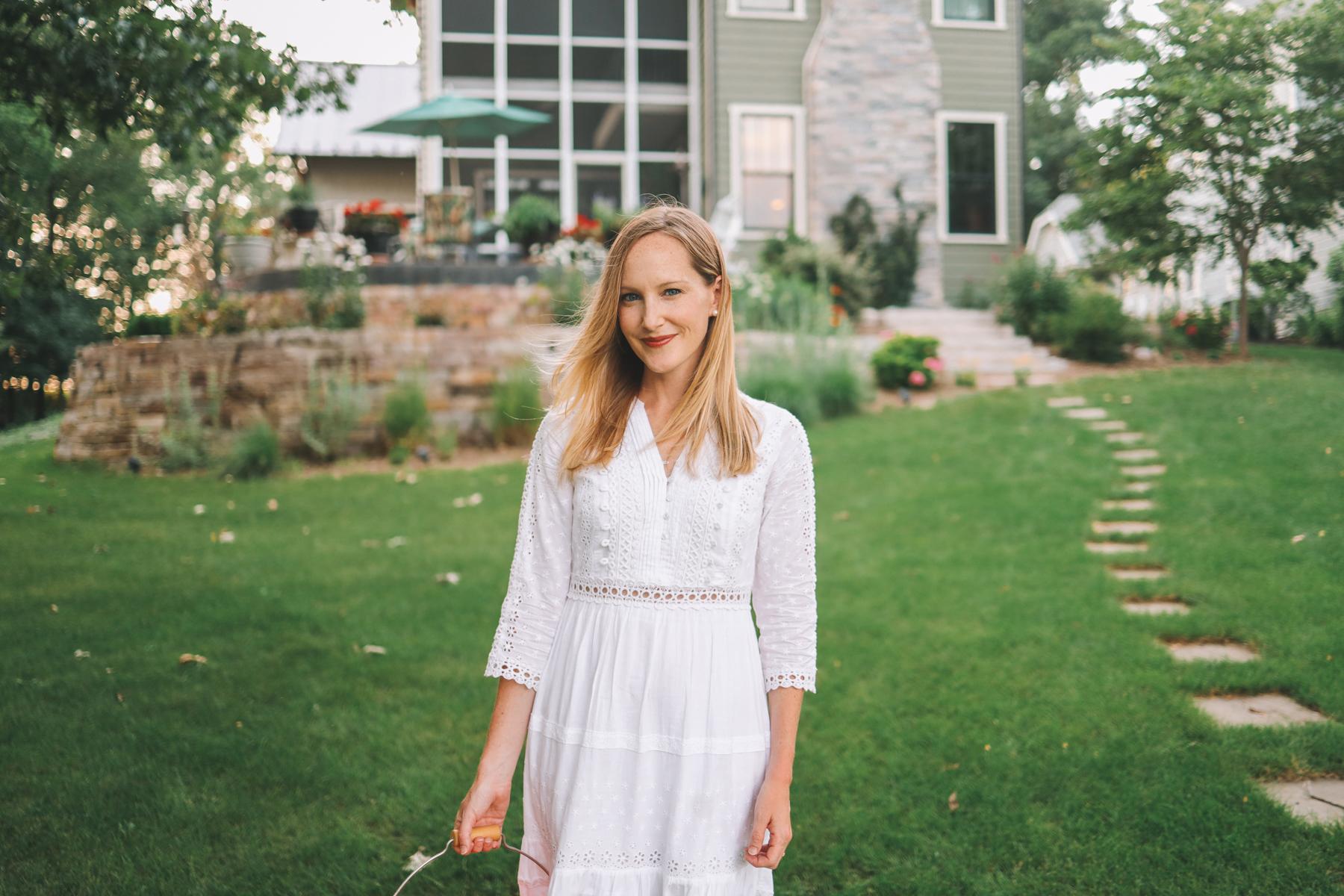 little white dress by kelly larkin