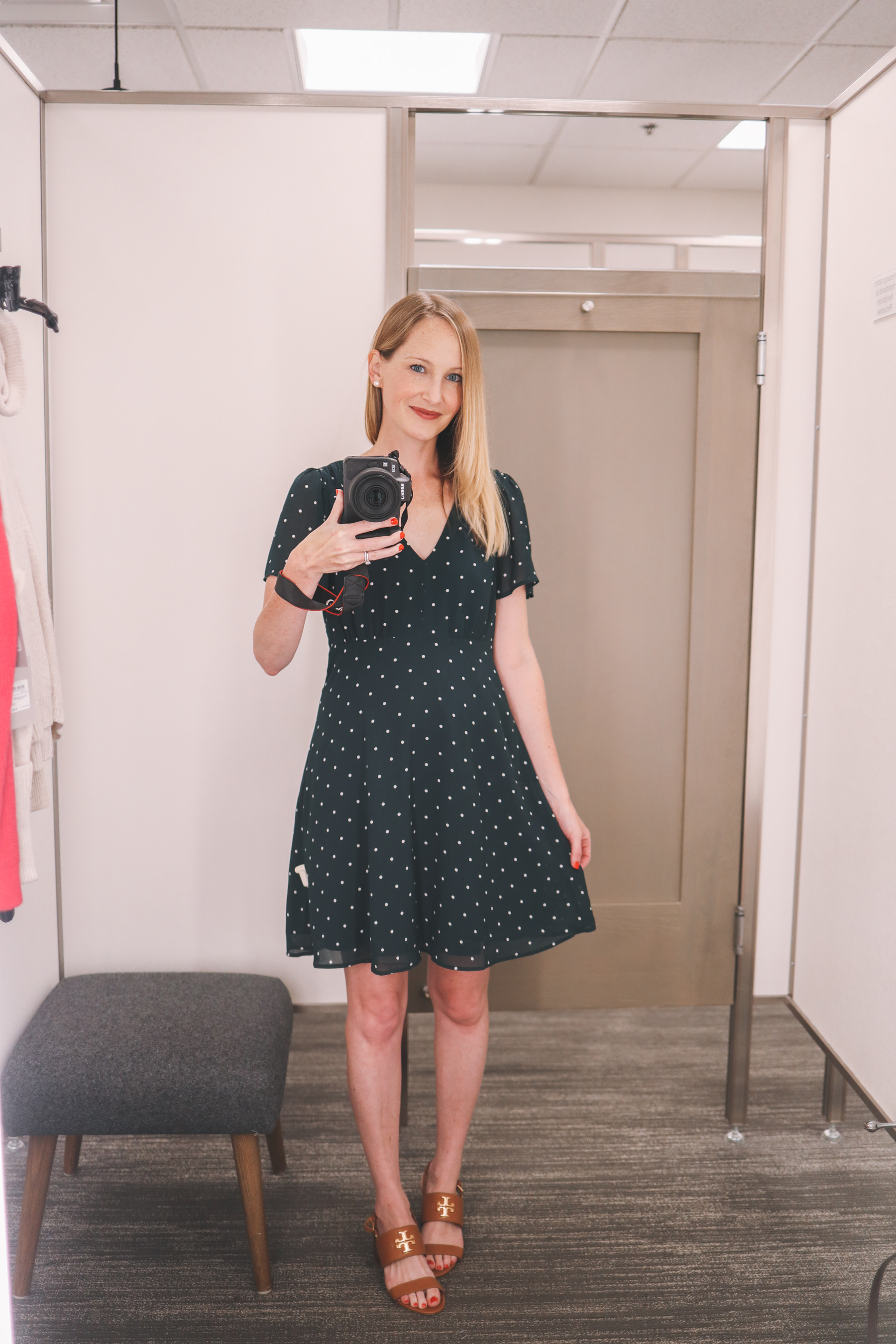 The Super-Flattering Polka Dot Dress