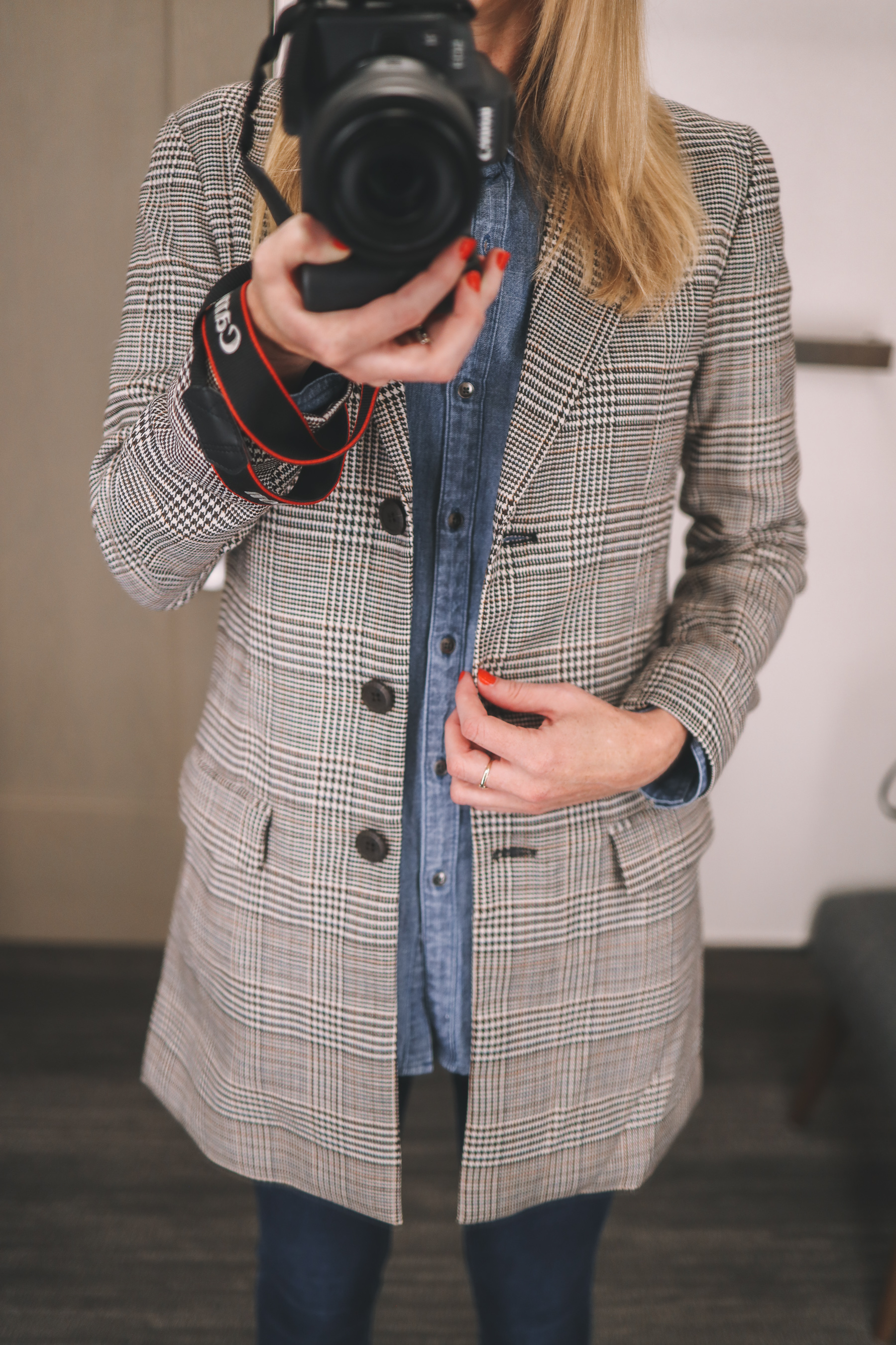 BB Dakota Plaid Blazer