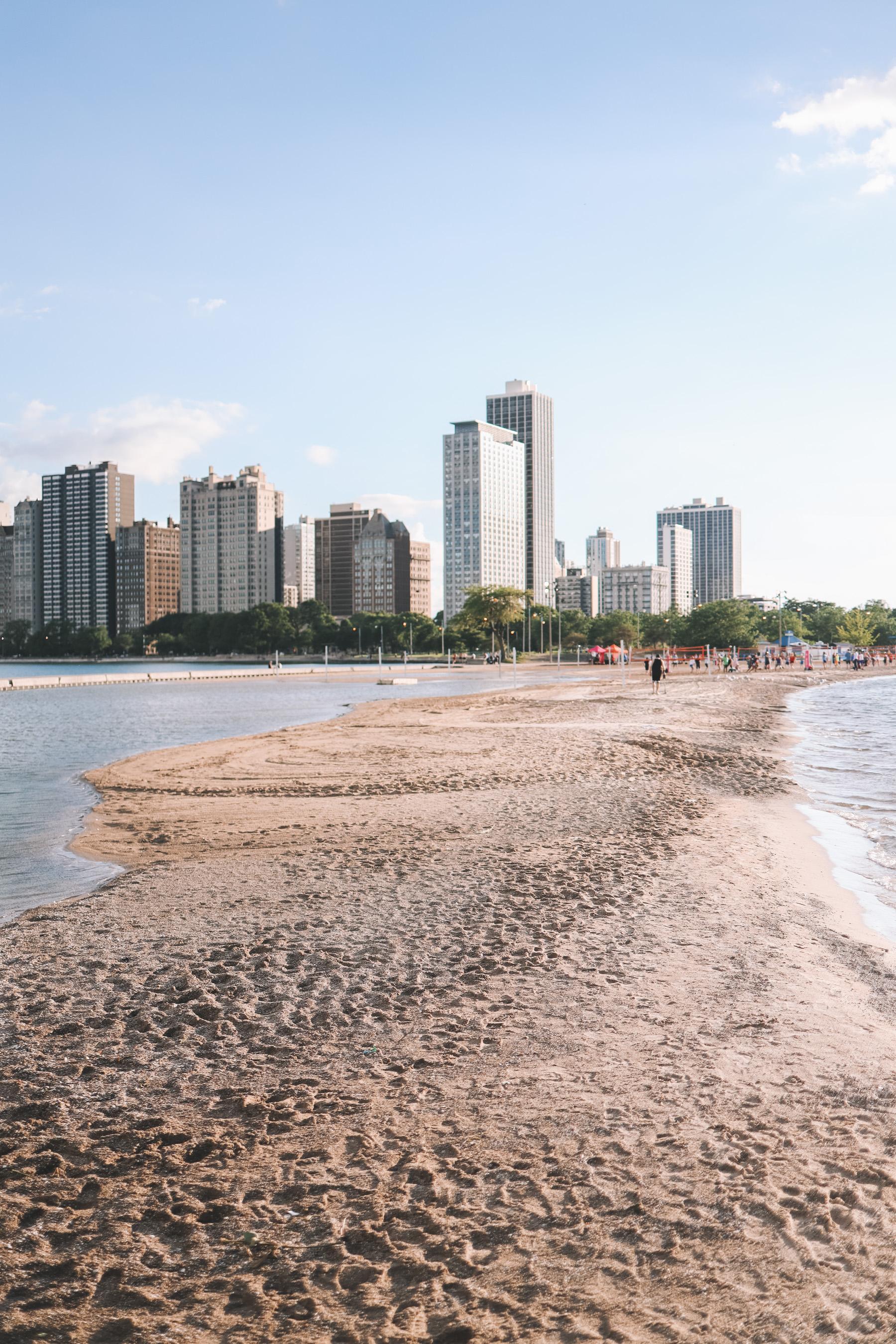 North Avenue Beach in Chicago