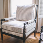 a chair in the Ballard Designs Shiloh Spool Chair Review