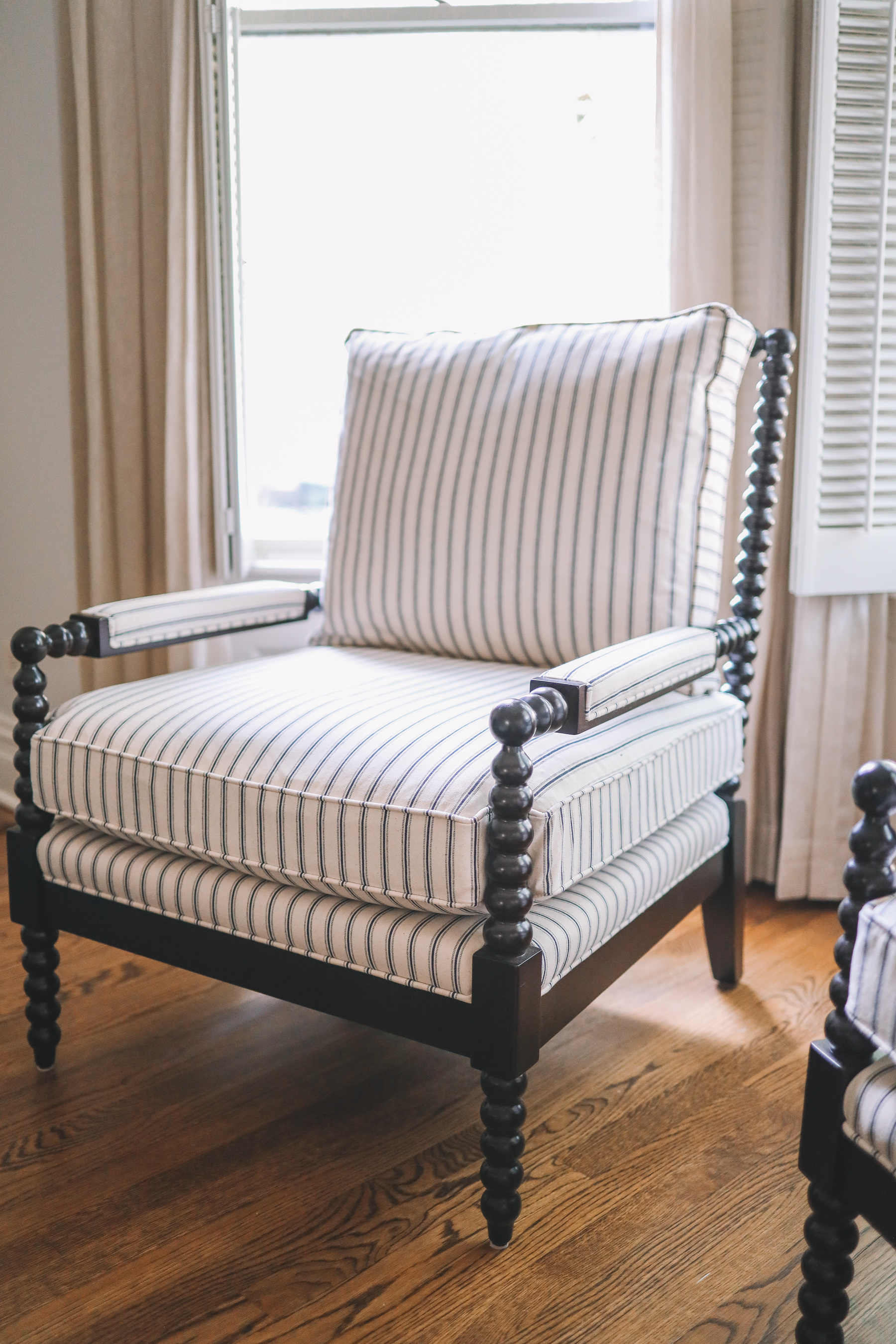 Ballard Designs Shiloh Spool Chair Review of this striped chair