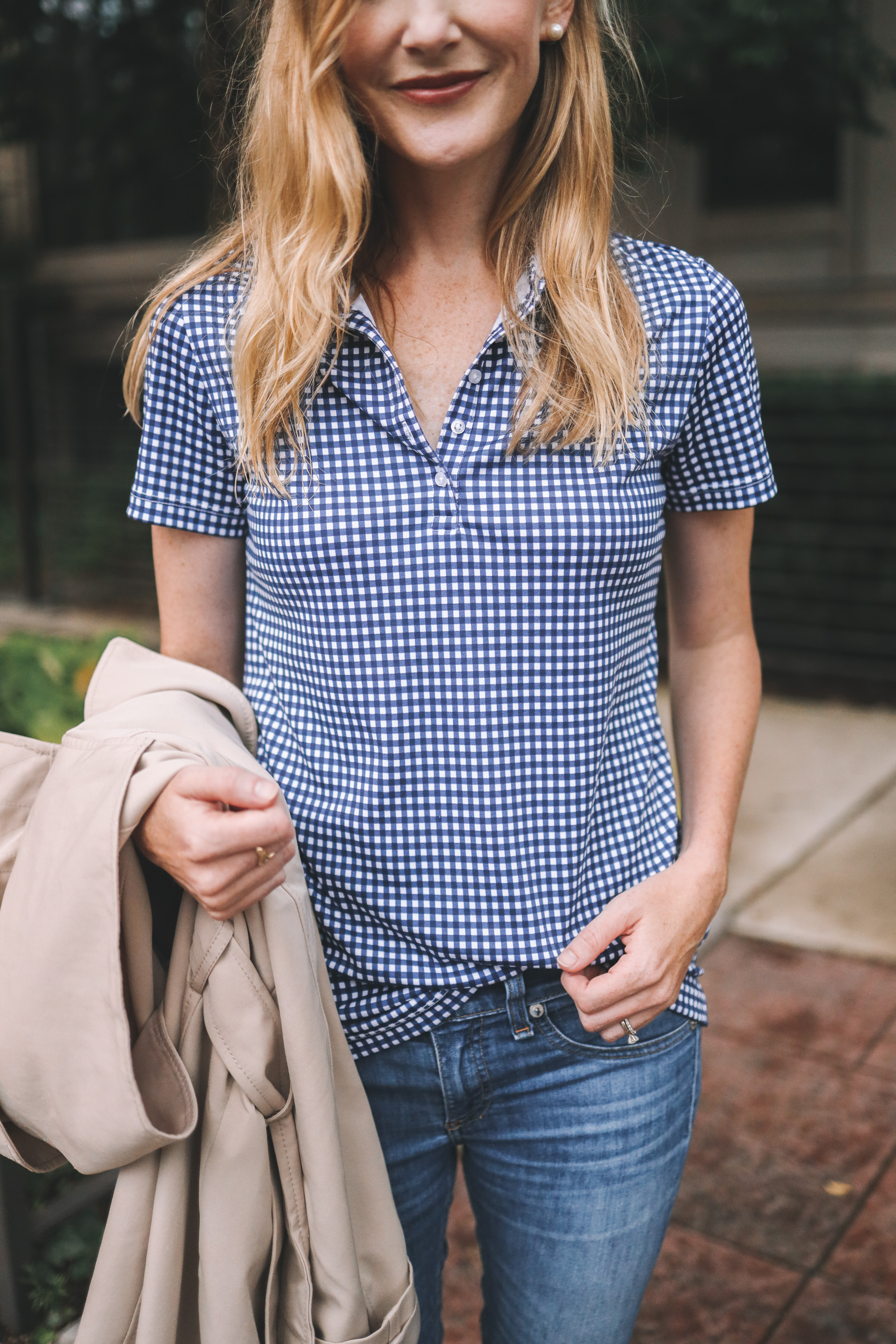 Lands' End Gingham Polo from Walmart