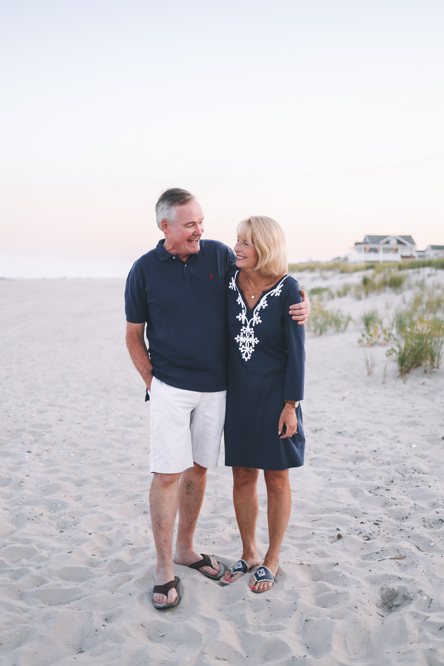 mom and dad on the beach
