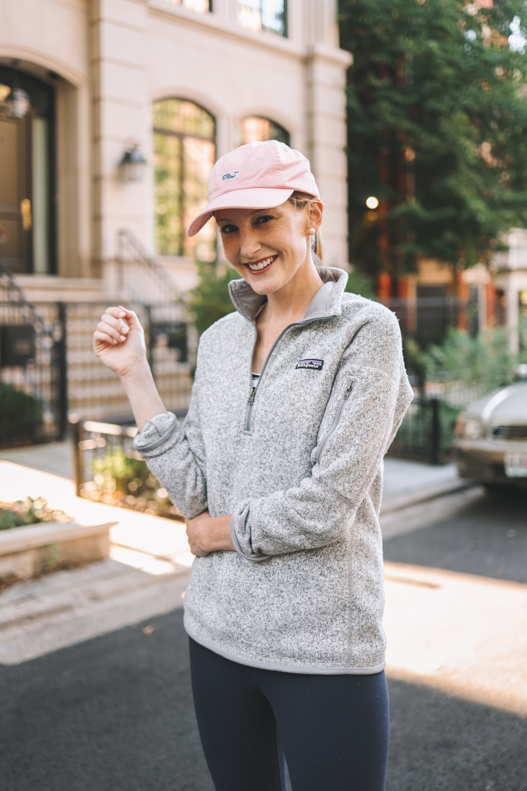 a girl in Patagonia sweater for mom and outdoor activities