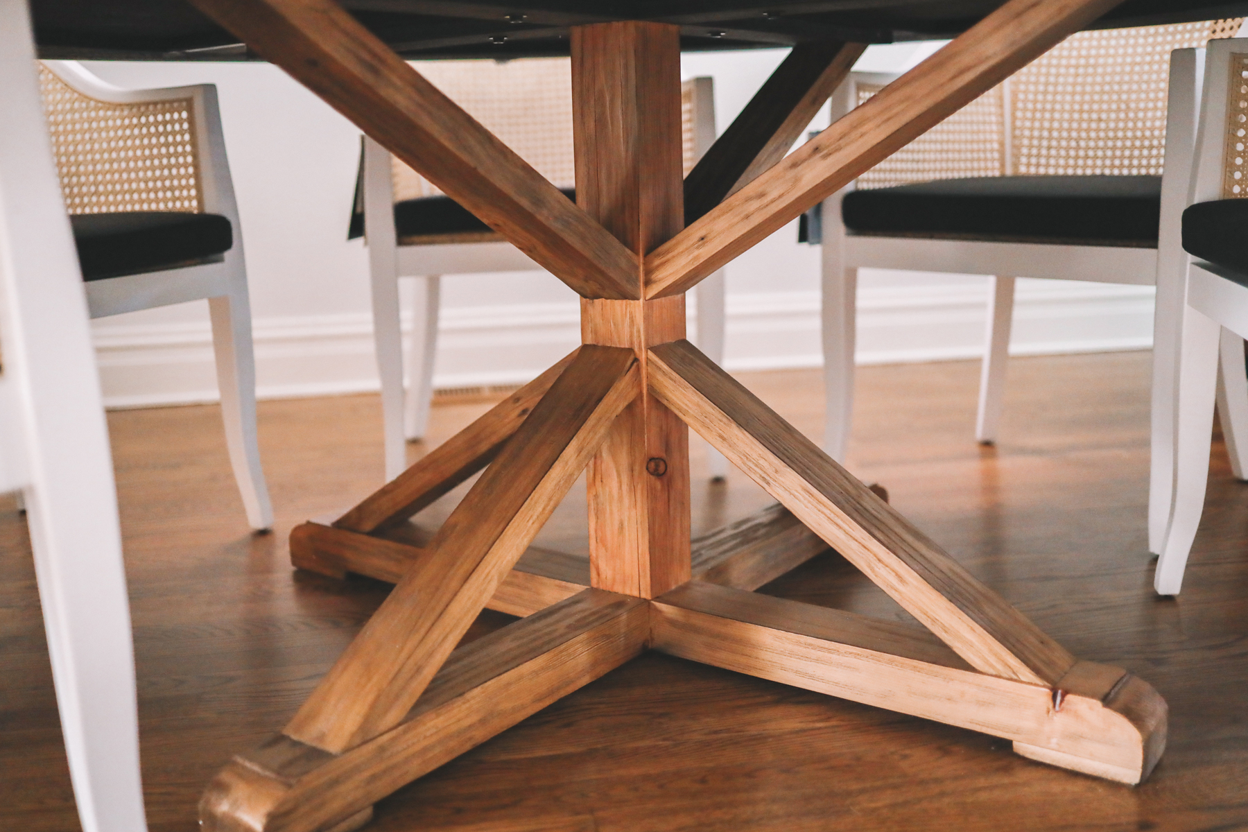 Pine Dining Table underside
