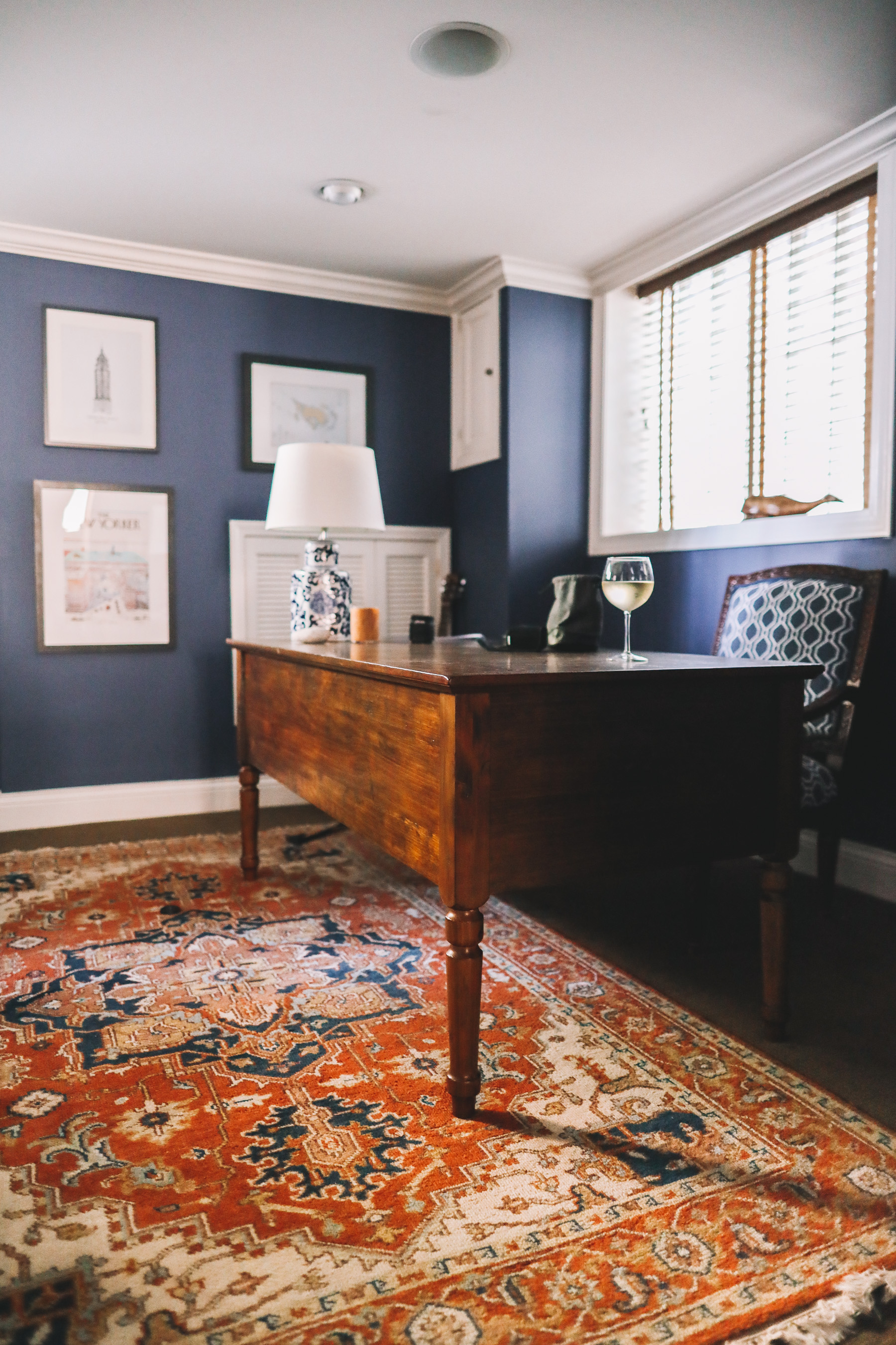 navy blue office