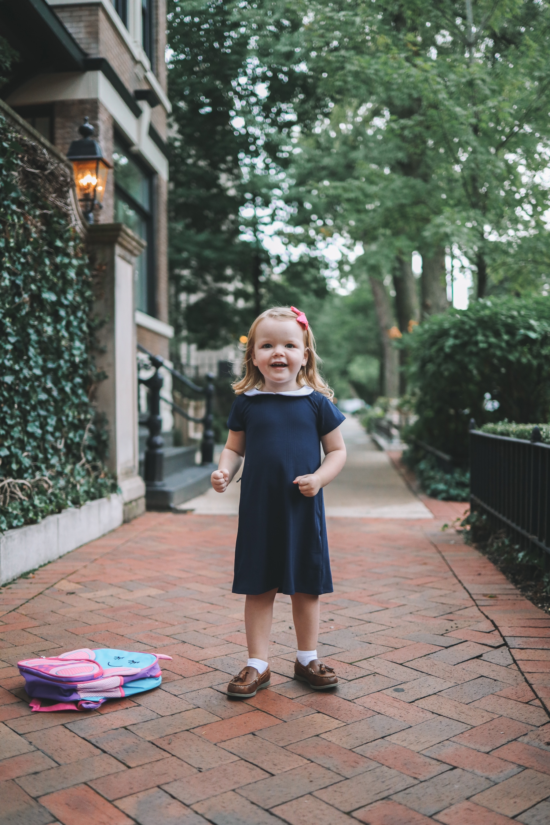 Navy Peter Pan Collar Dress featured