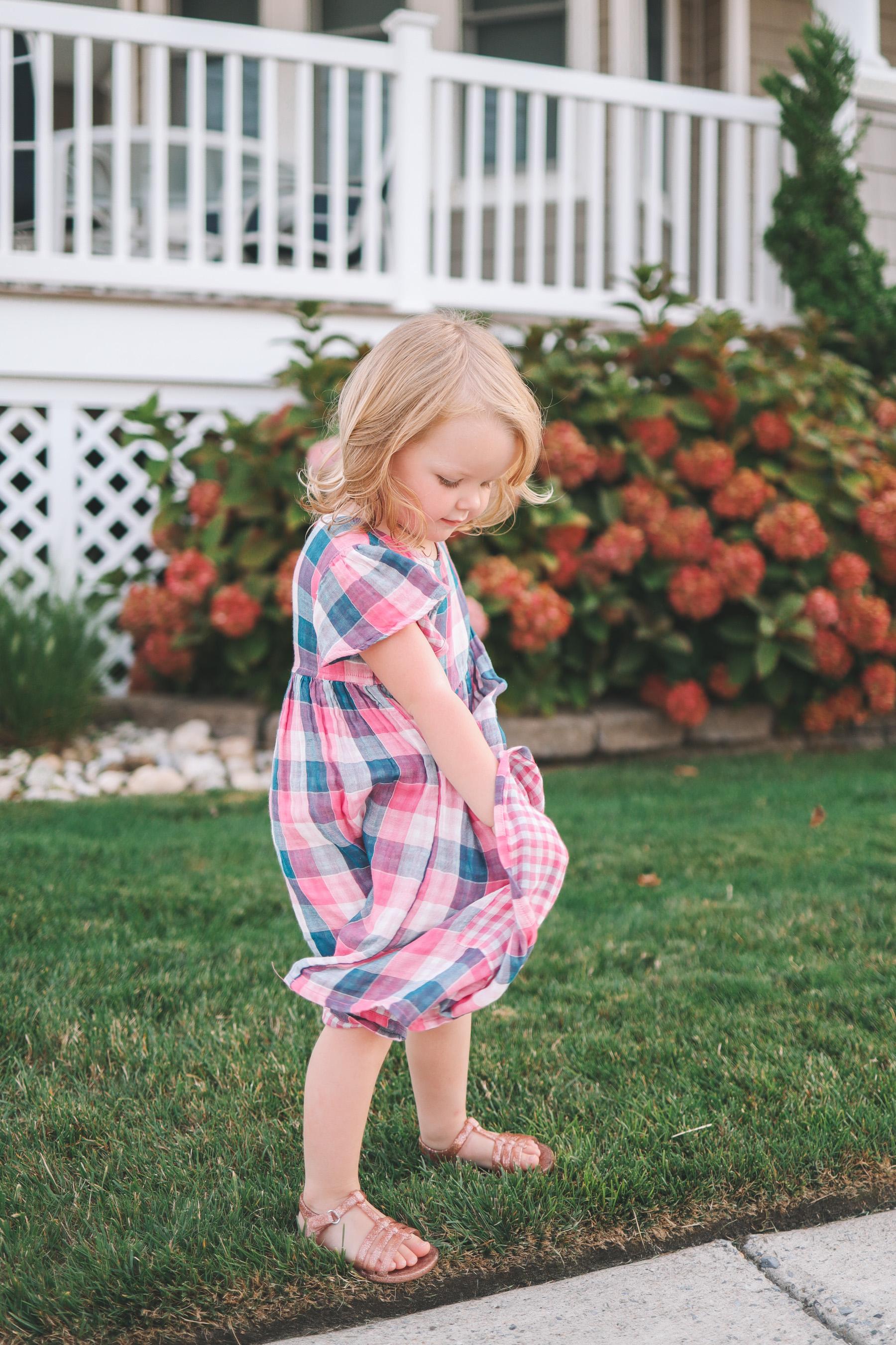 Kelly's daughter models a Nordstrom find