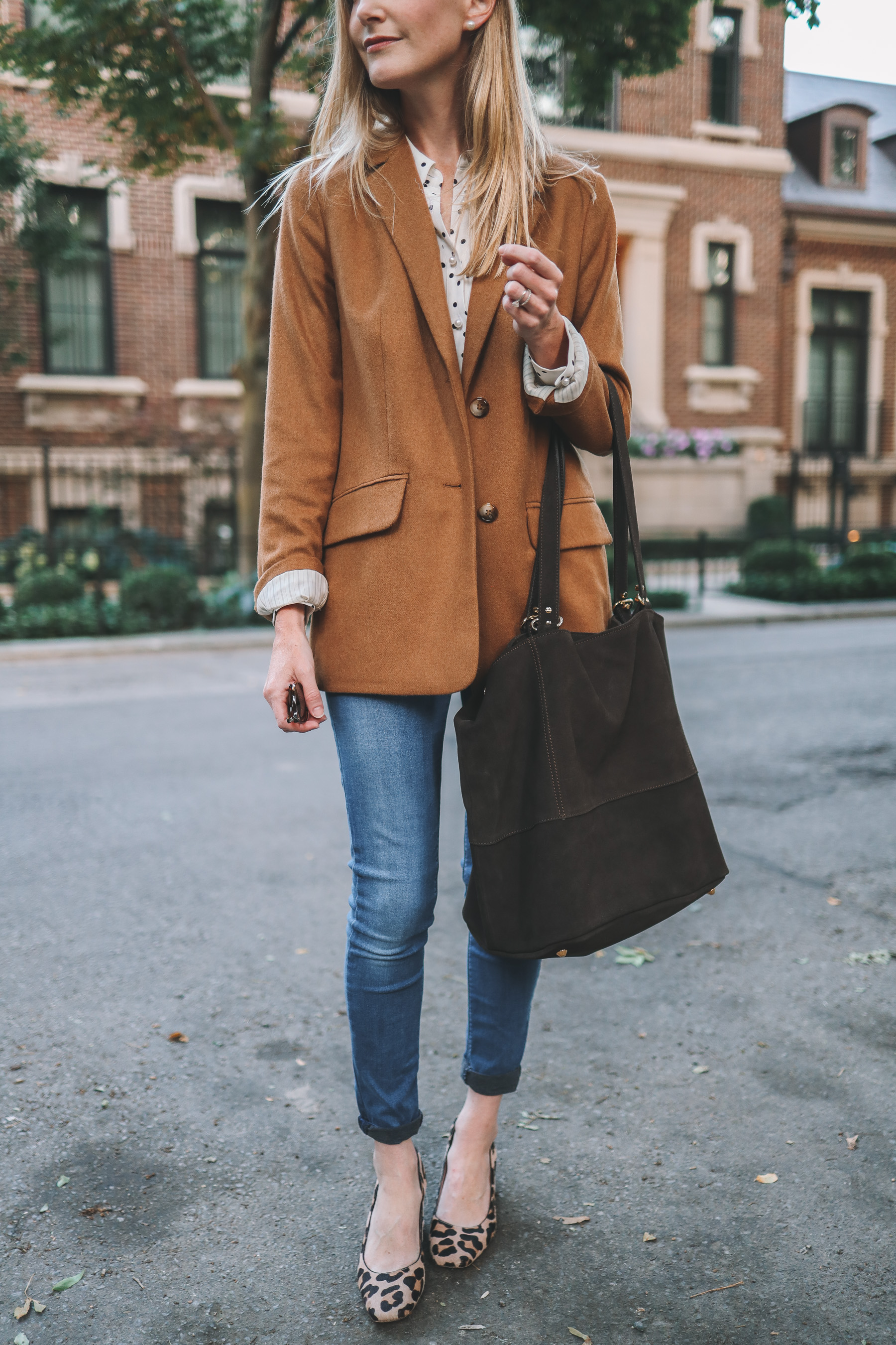 an italien suede tote