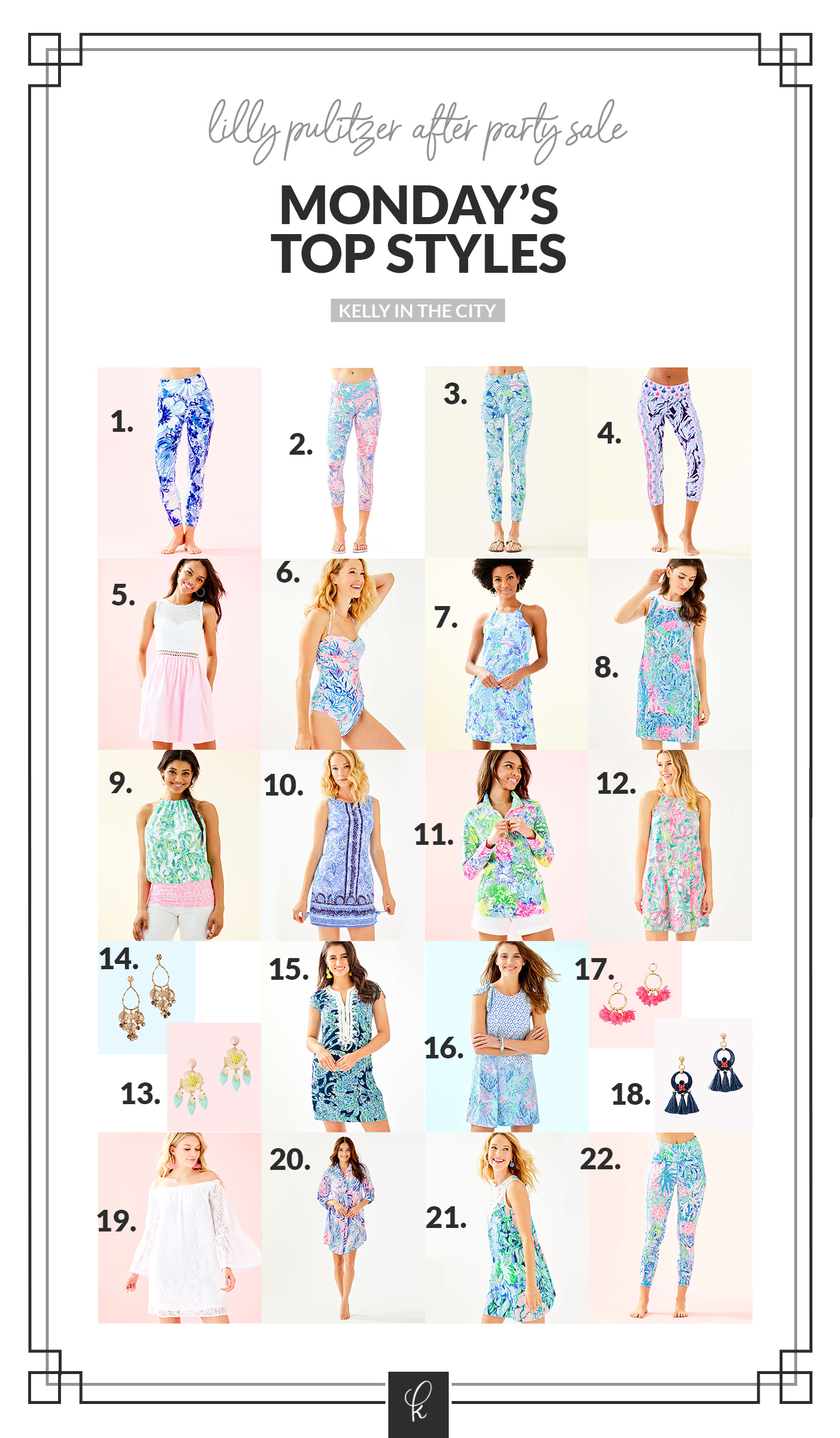 top styles for Lilly Pulitzer After Party Sale Dates