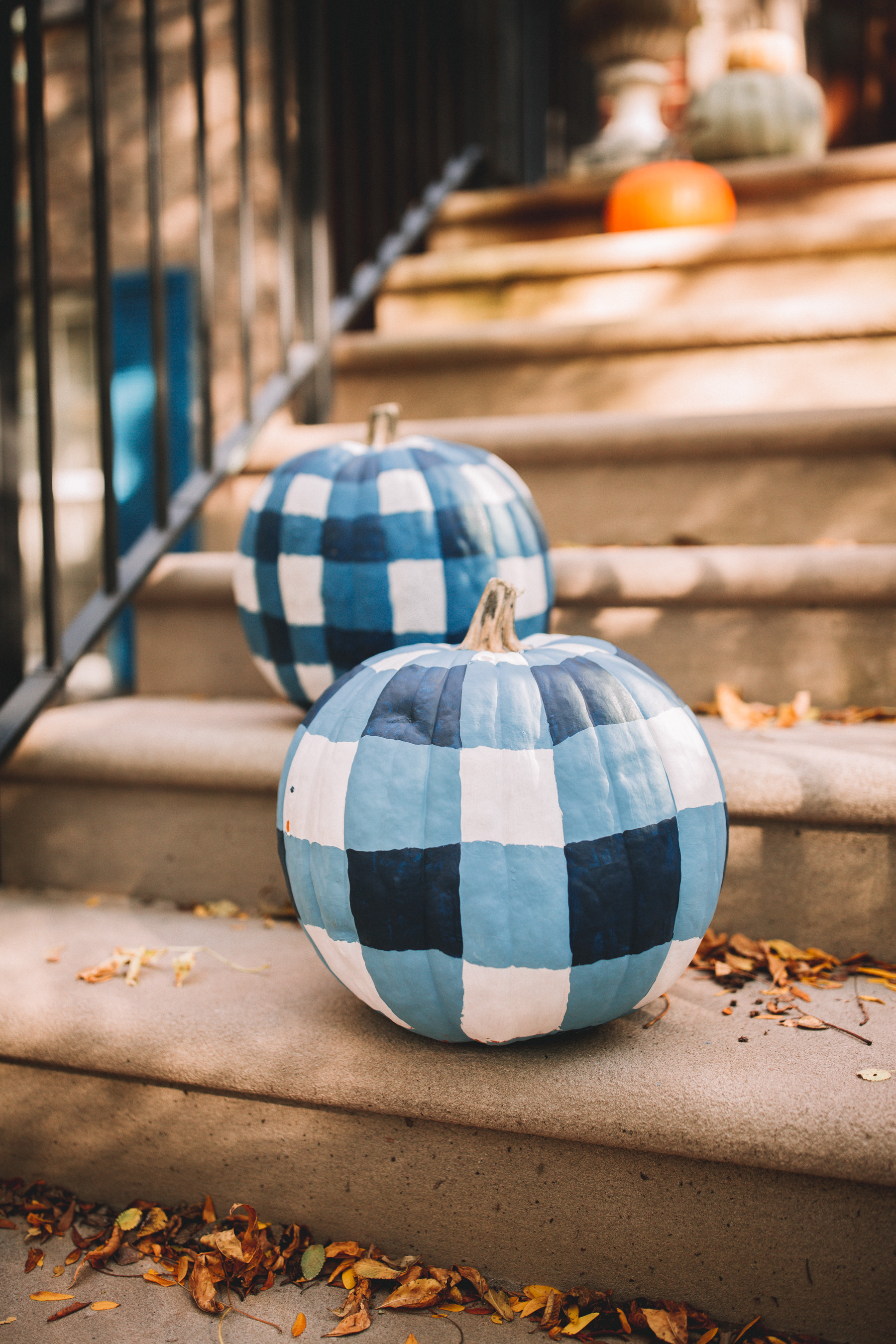 DIY Gingham Pumpkins