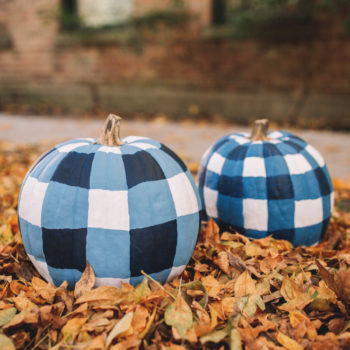 DIY Gingham Pumpkins Tutorial