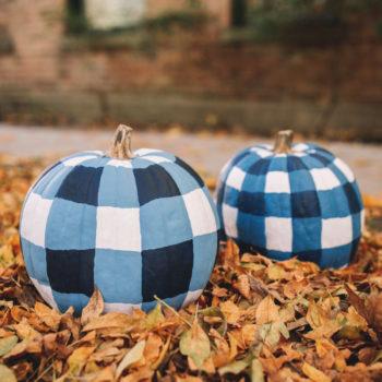 DIY Gingham Pumpkins Tutorial