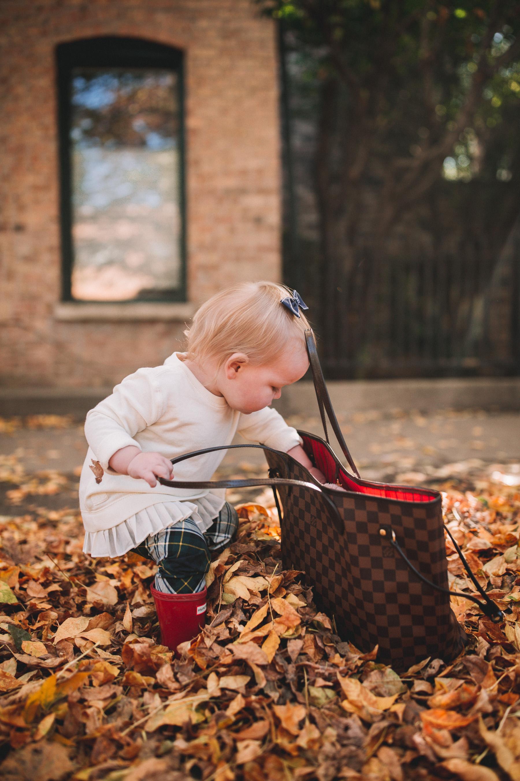 Baby fall photoshoot
