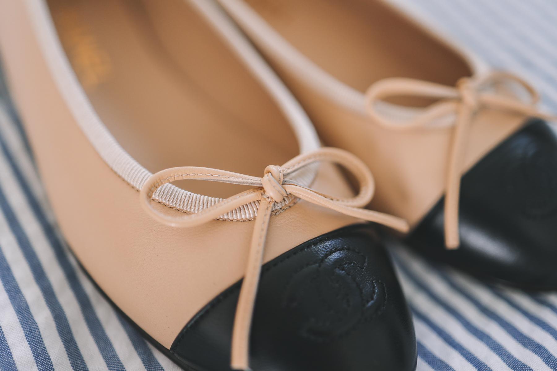 Cap Toe Ballerina Flats